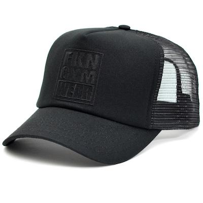 FKN Gym Wear Trucker Cap - Black/Black