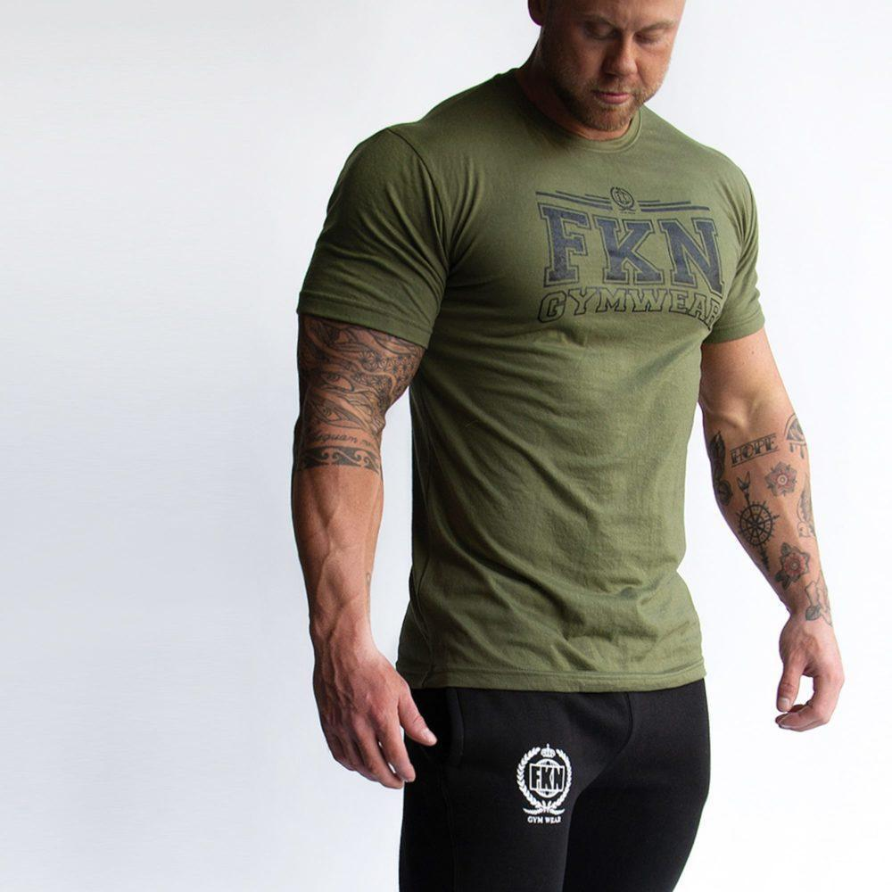 FKN Gym Wear Varsity Tee - Khaki
