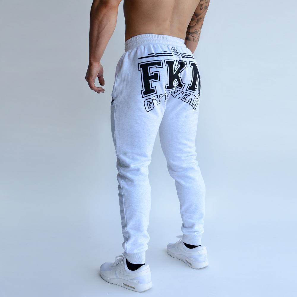 FKN Gym Wear Varsity Track Pant - White