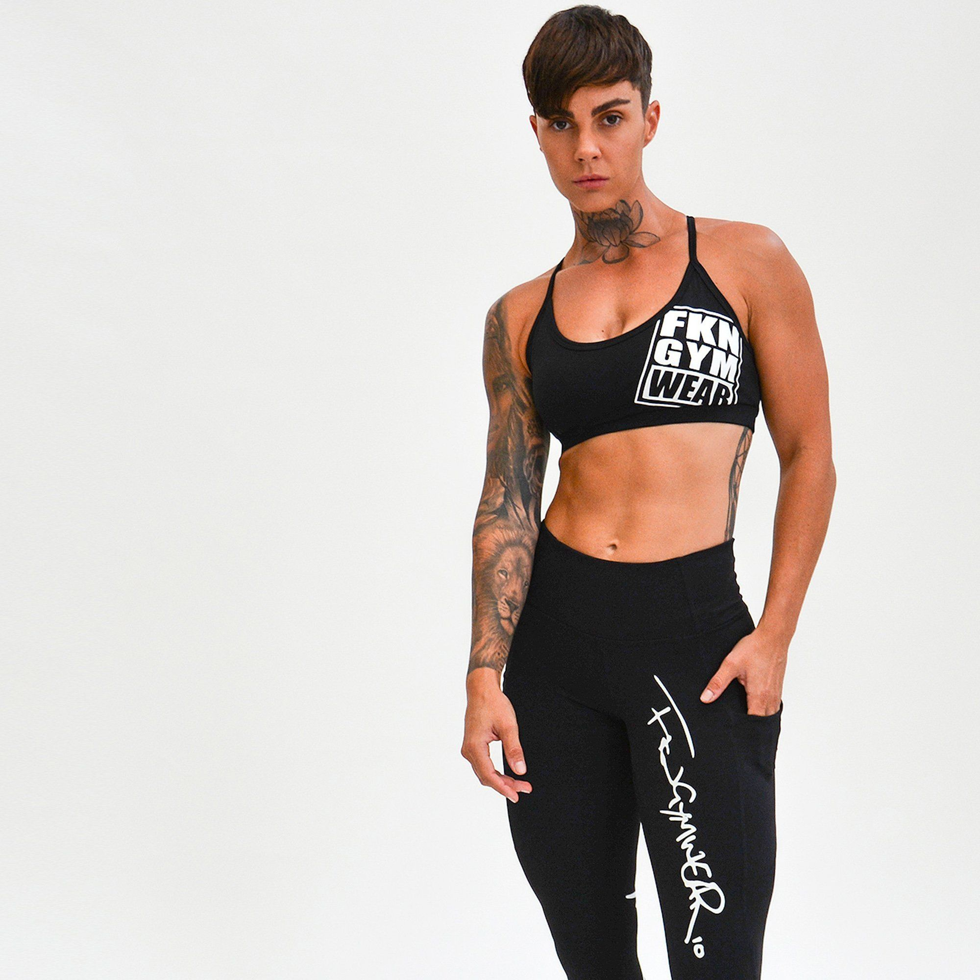 FKN GymWear Fenom Gym Crop - Black