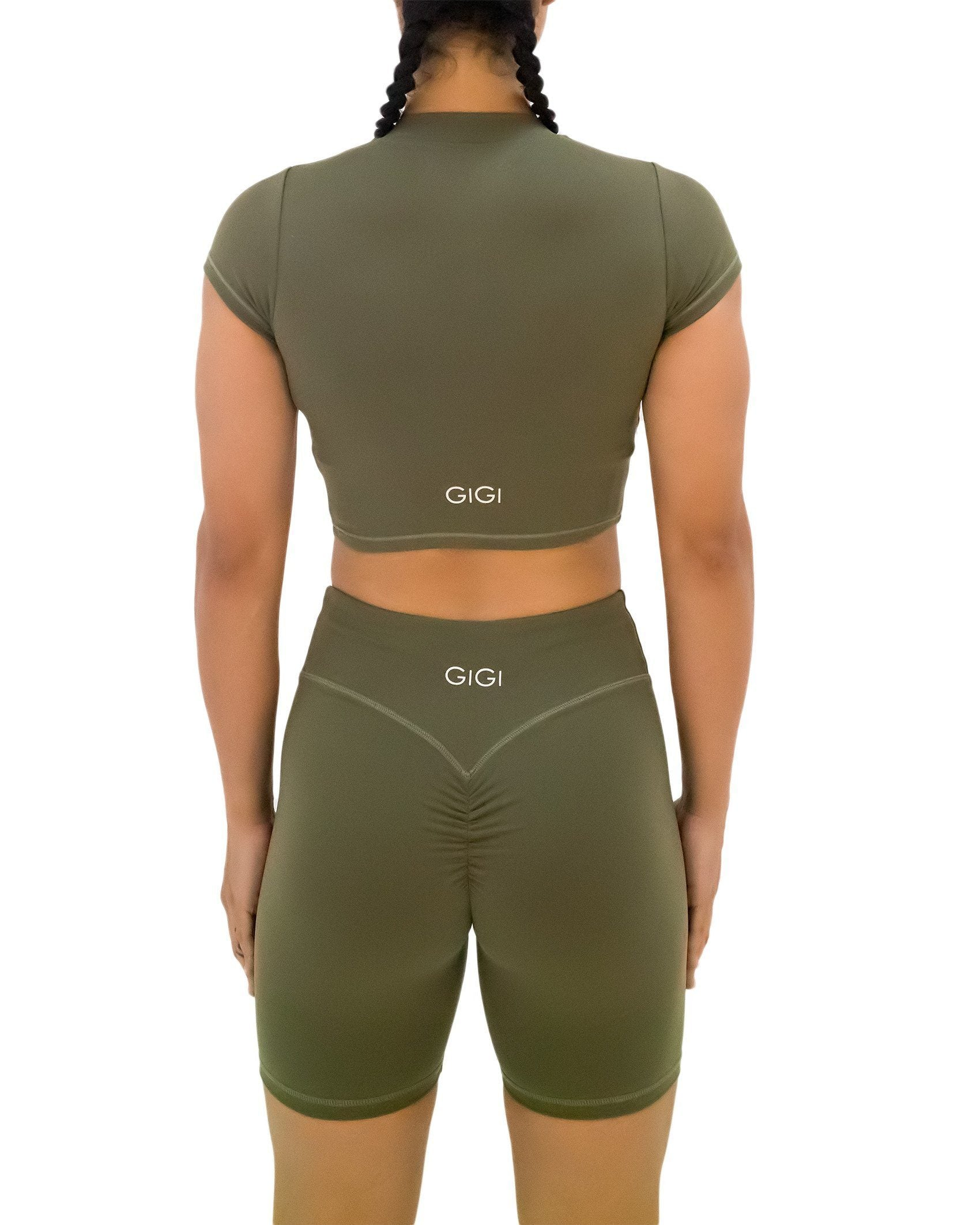 GIGI Lina Bike Shorts - Khaki
