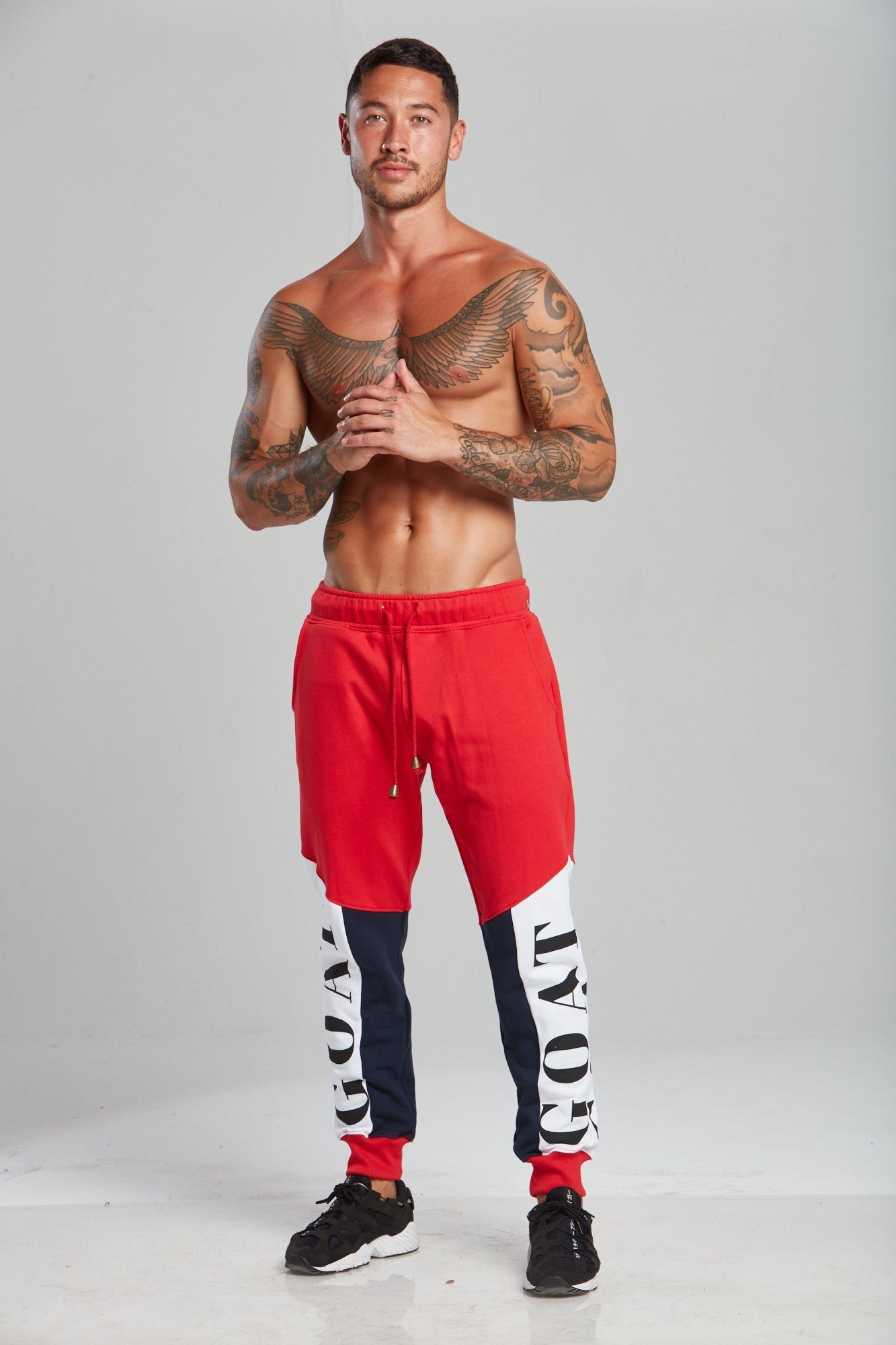 GOAT Tri-Panel Track Pants - Red