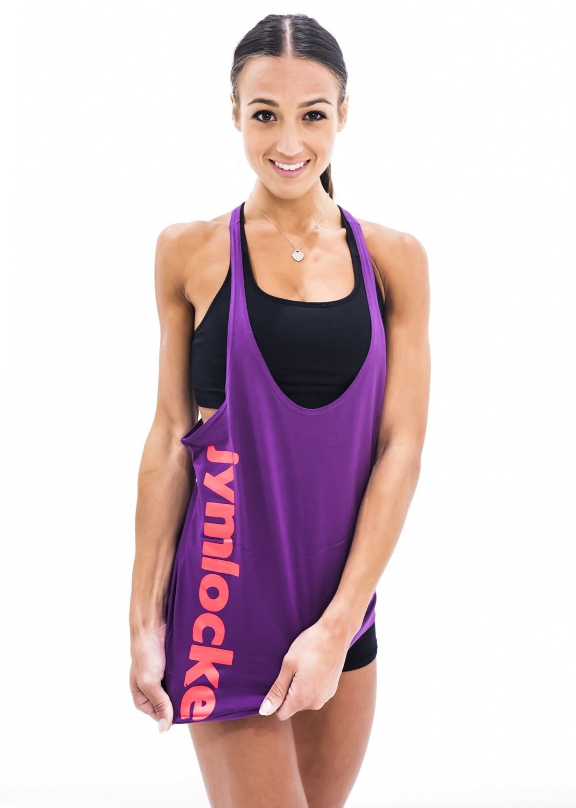 Jym Locker Ladies Basic Stringer - Royal Purple