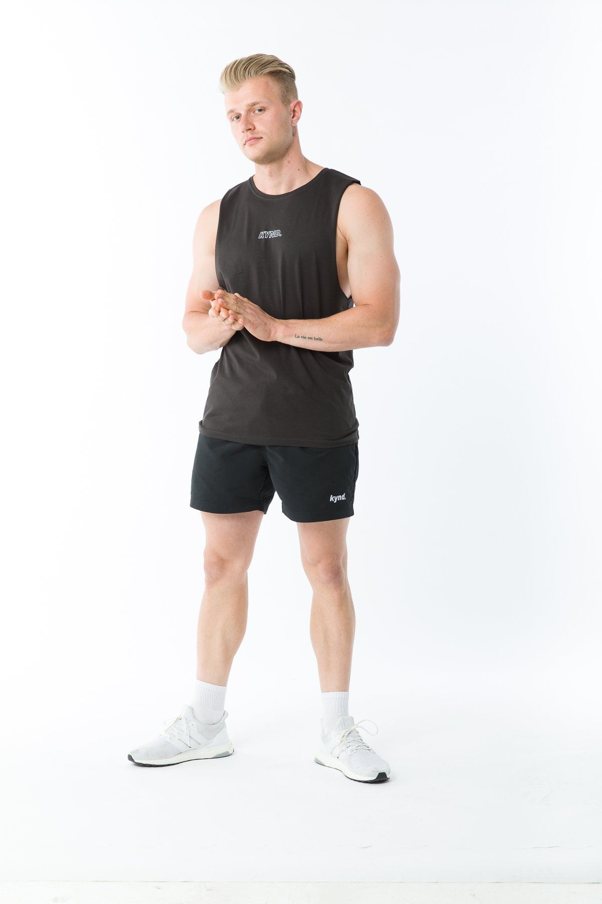 Kynd 01 Outline Tank - Charcoal