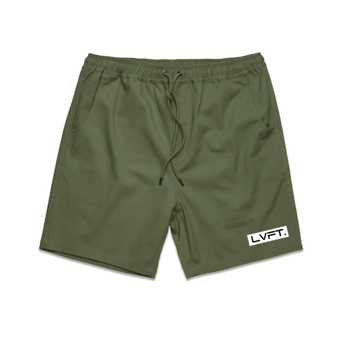 Live Fit Lifestyle Shorts-Olive