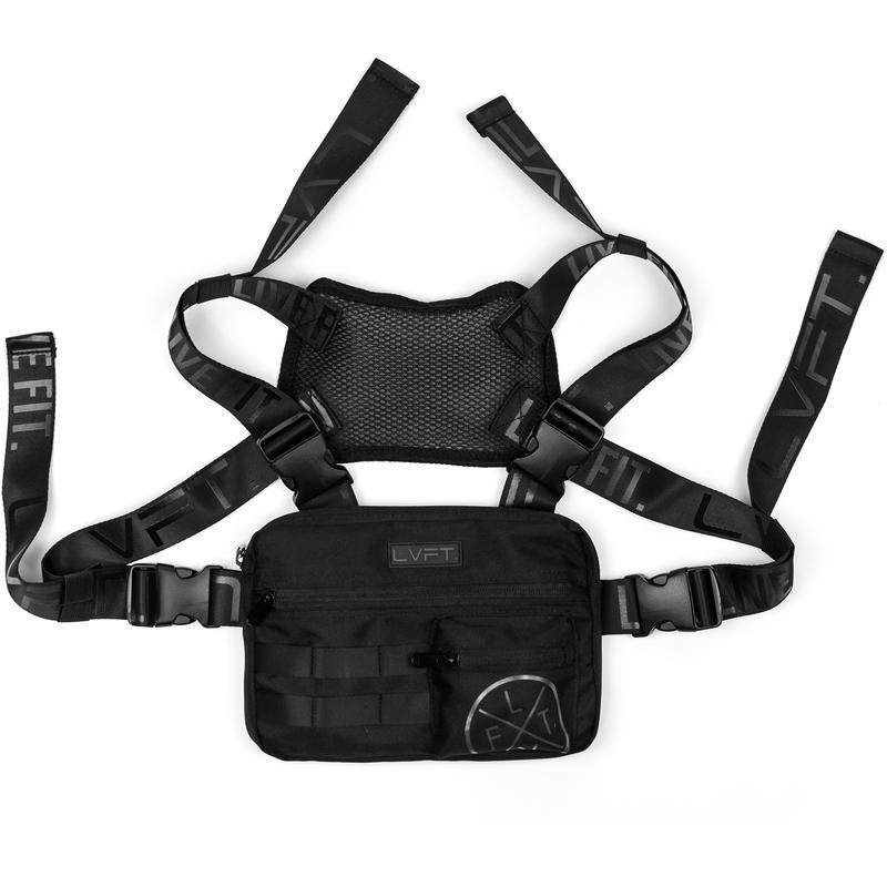 LIVE FIT - TACTICAL CHEST RIG - BLACK / BLACK