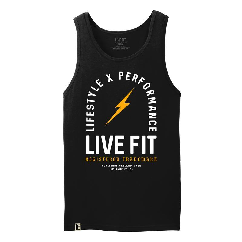 LiveFit Register Trademark Tank-Balck/Gold