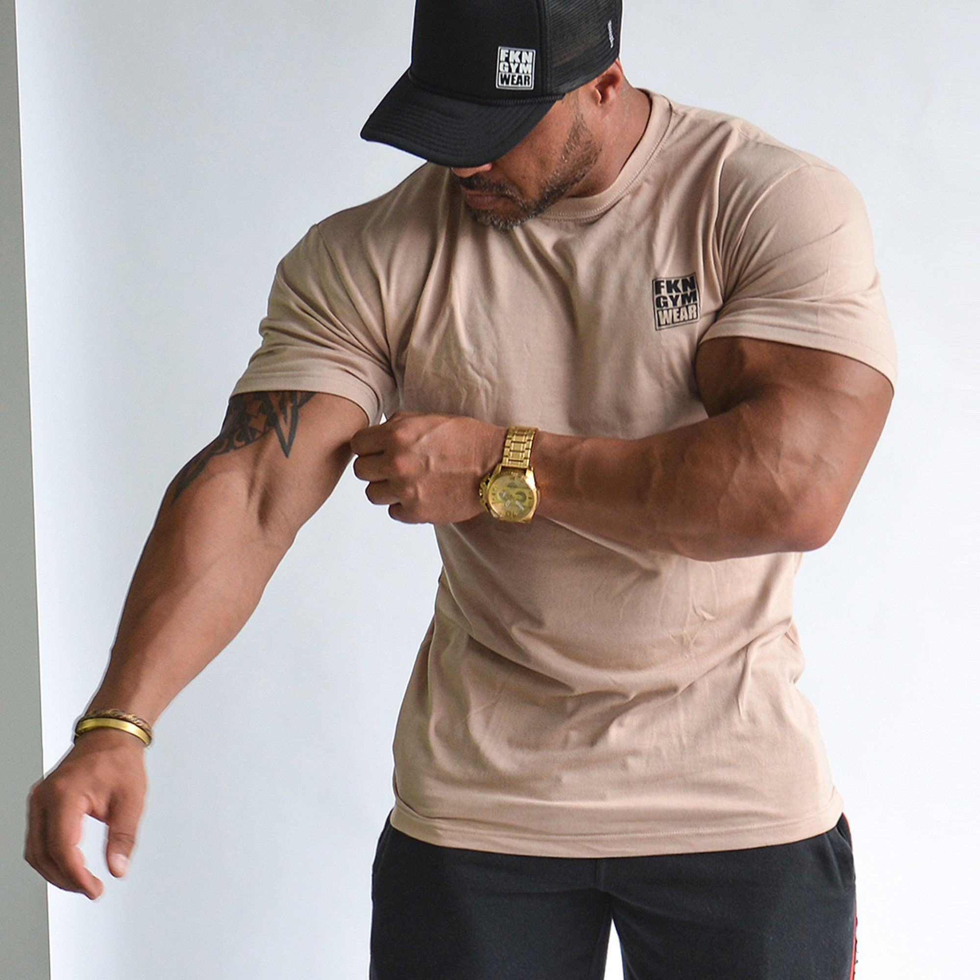 Men's Gym T-Shirt | Classic | Beige