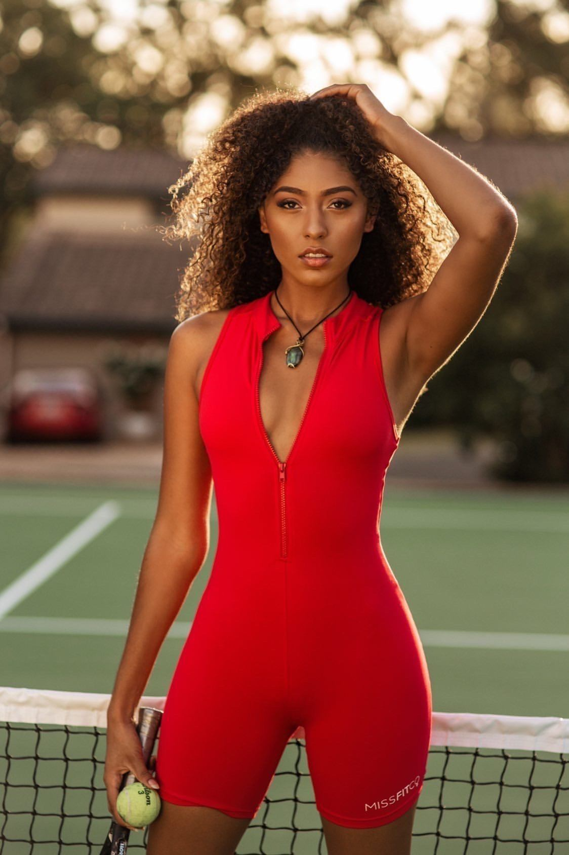 MISSFITCO Sienna Jumpsuit - Red