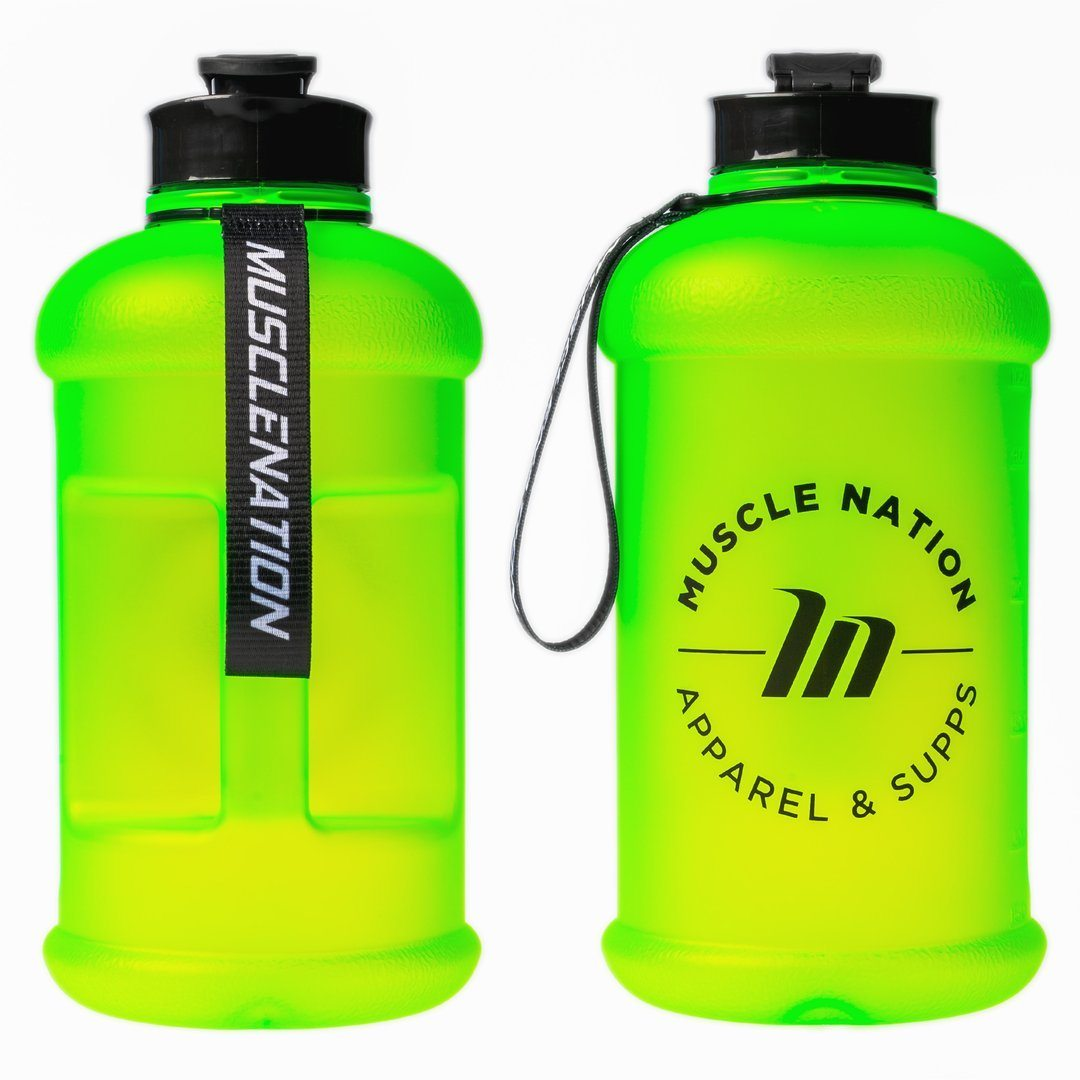 Muscle Nation 1.3L Smart Jug - Frosted Neon Green