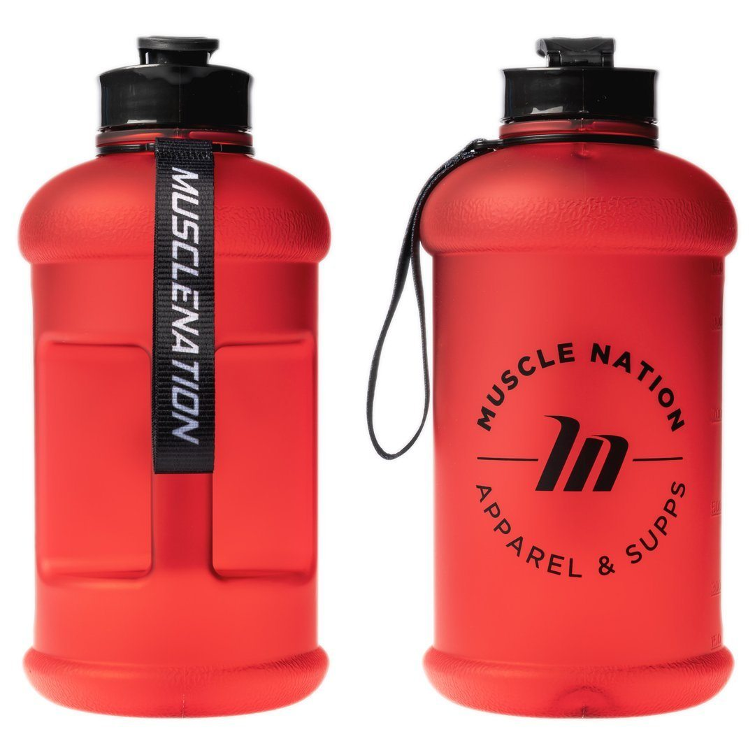 Muscle Nation 1.3L Smart Jug - Frosted Red