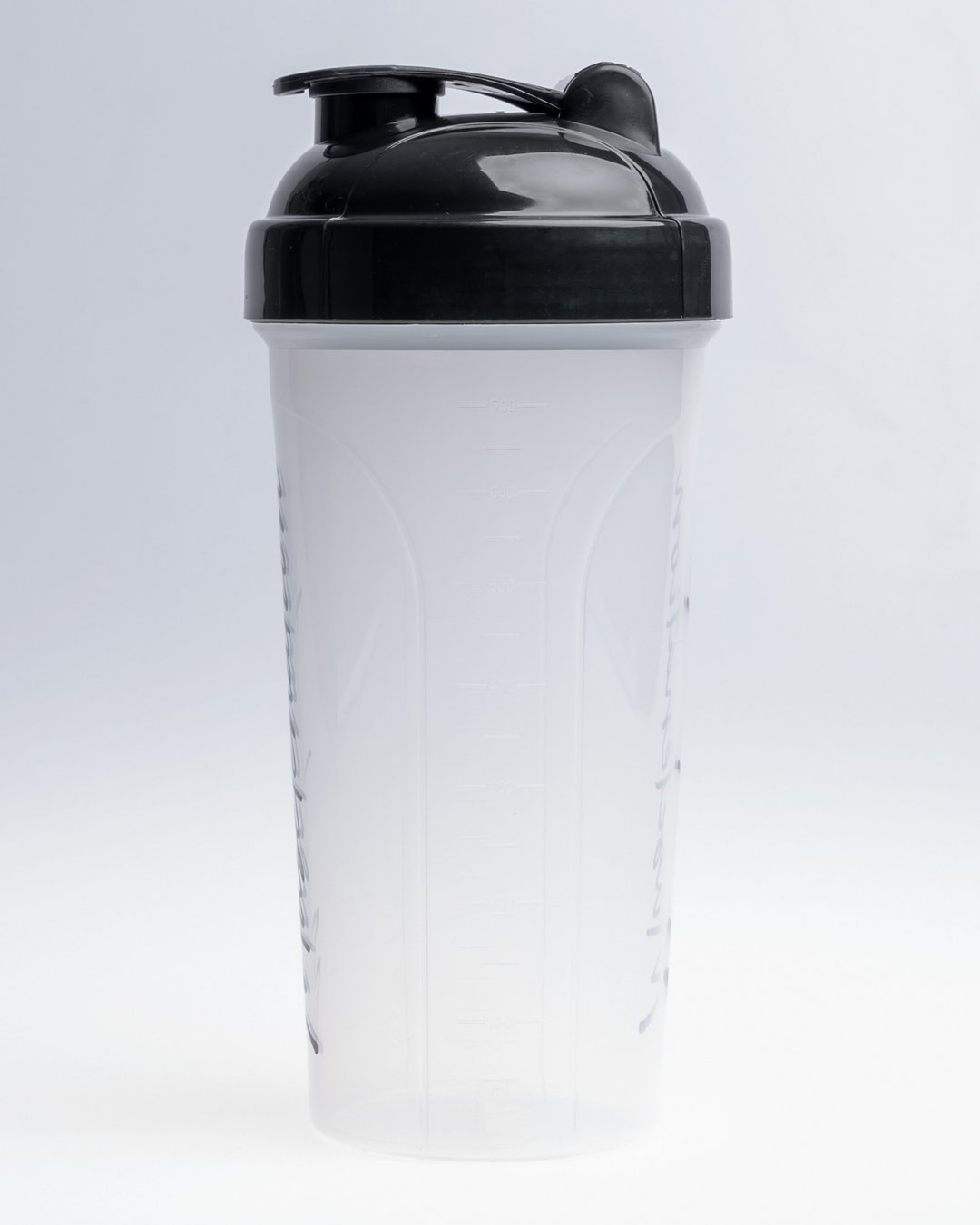 Muscle Nation 750ml Shaker - Clear/Black Signature Logo