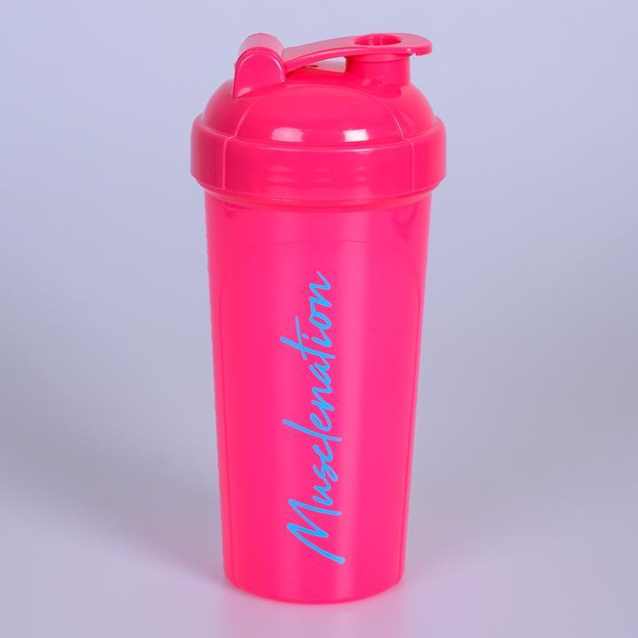 Muscle Nation 750ml Shaker - Fuschia/Blue