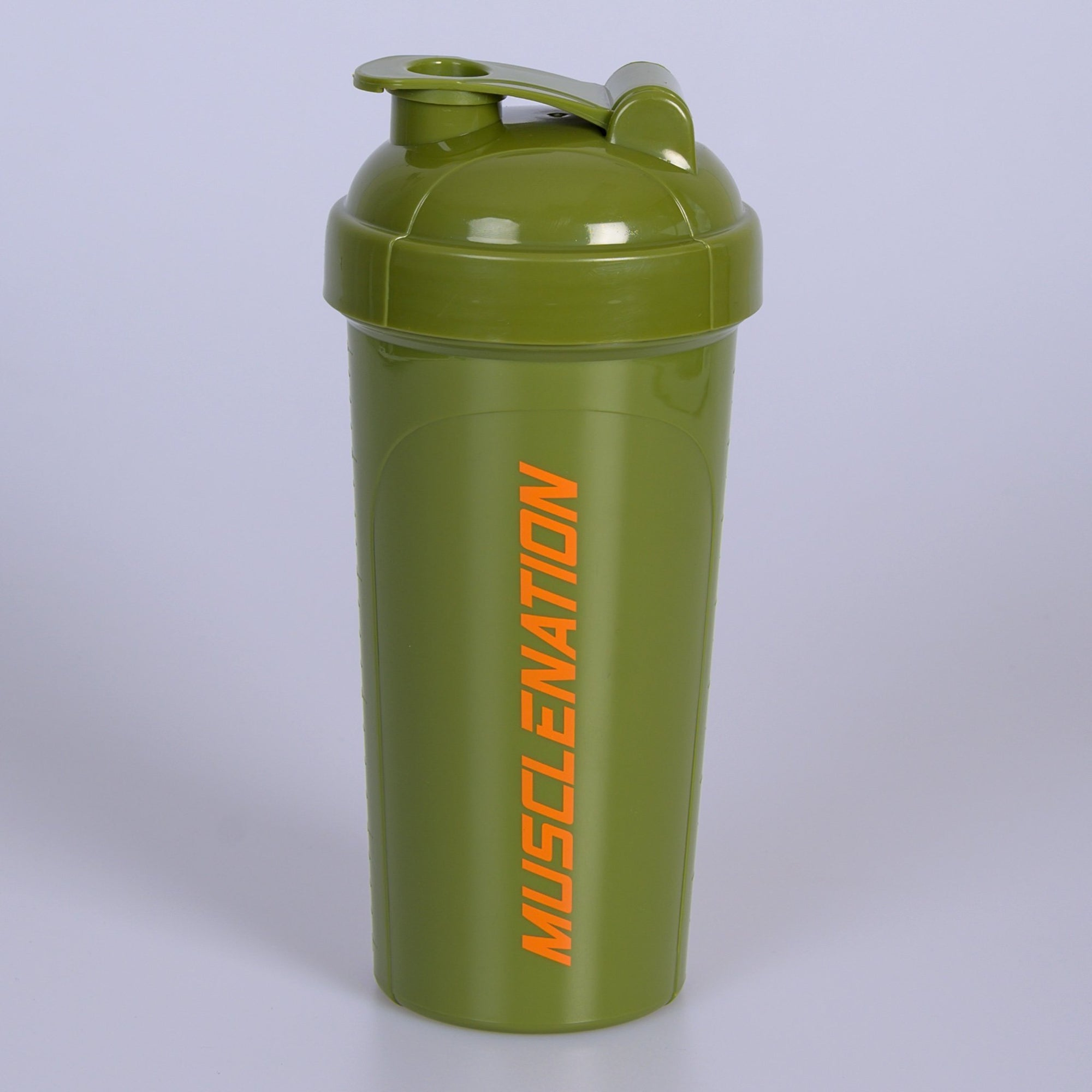 Muscle Nation 750ml Shaker - Khaki/Orange