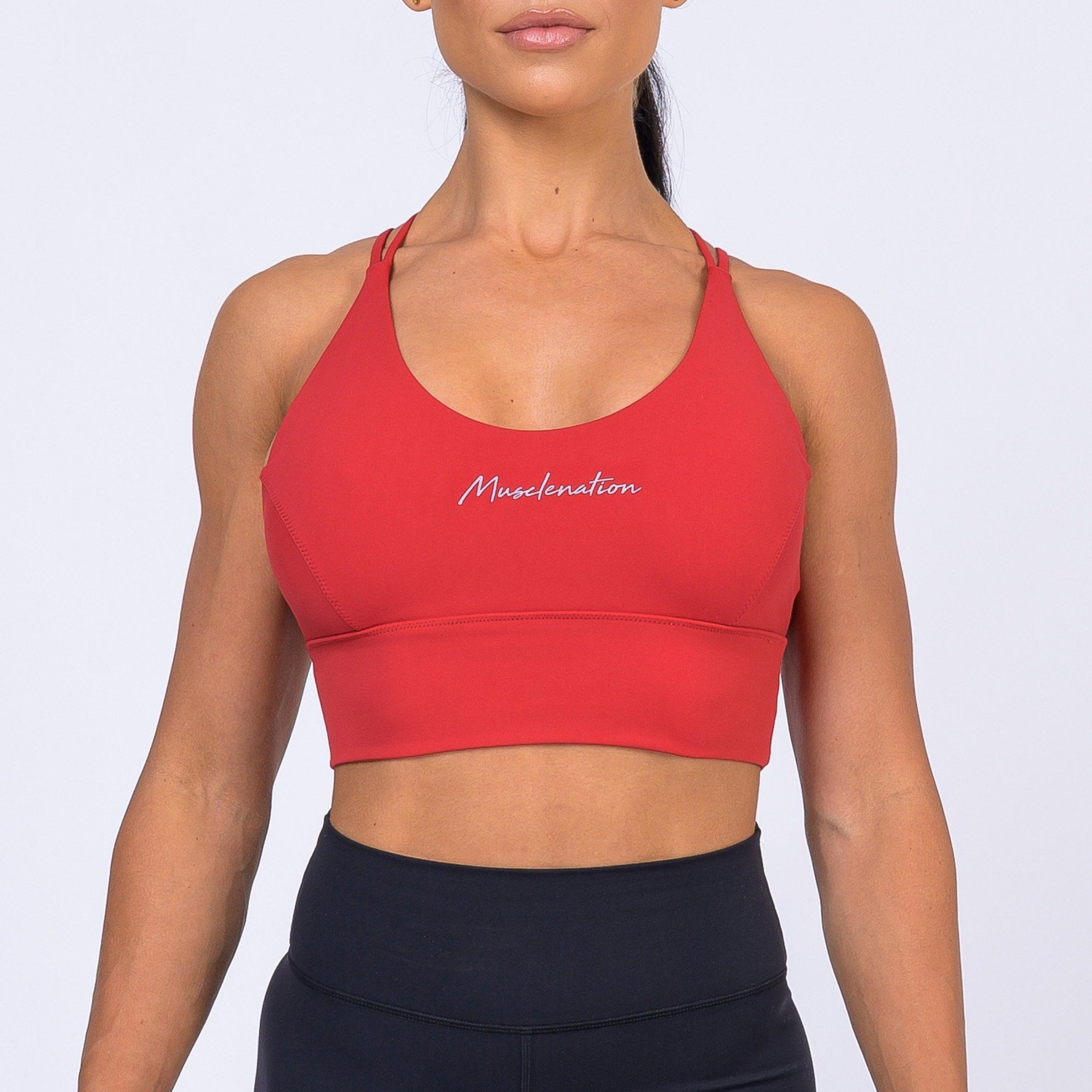 Muscle Nation Butter Motion Sports Bra – Red