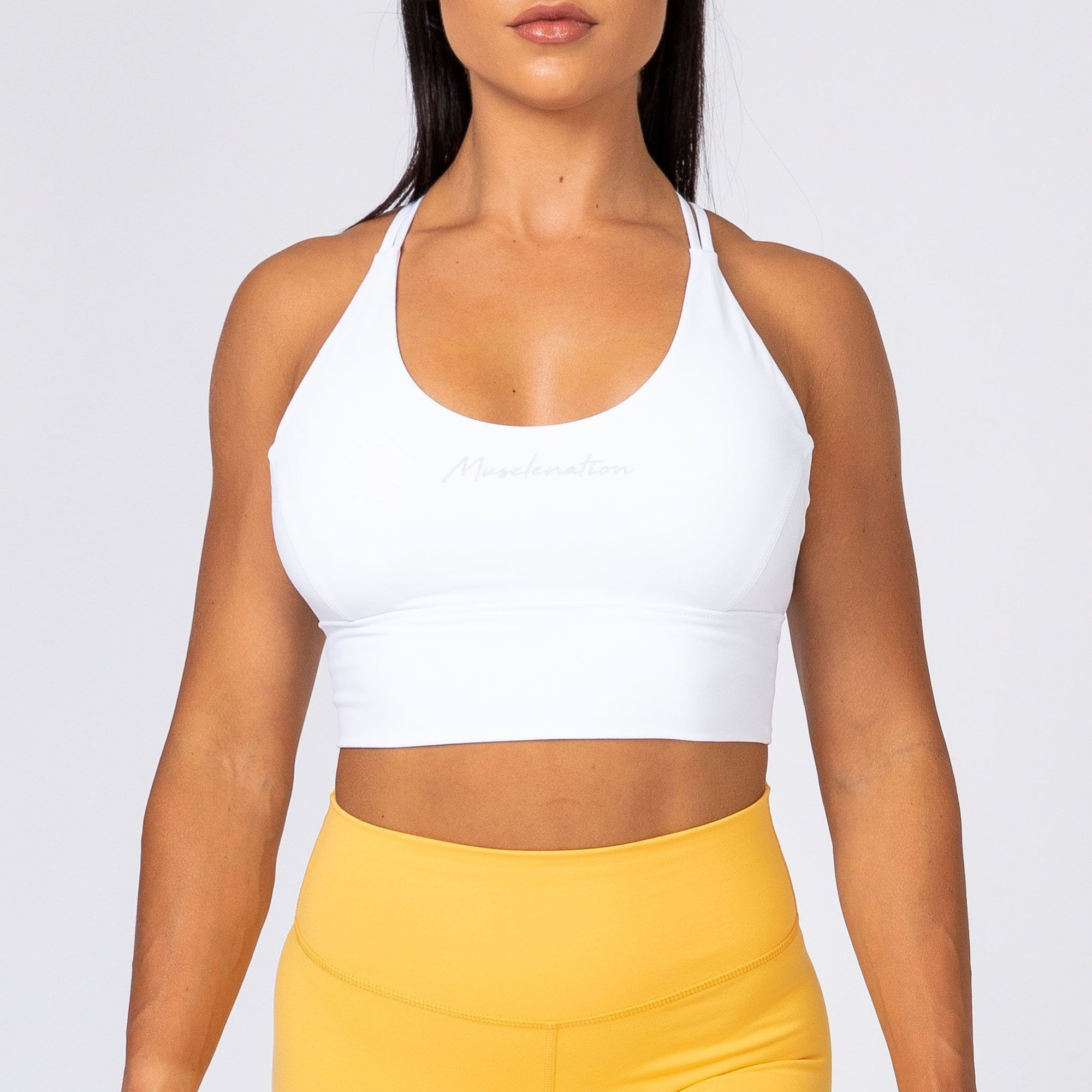 Muscle Nation Butter Motion Sports Bra – White