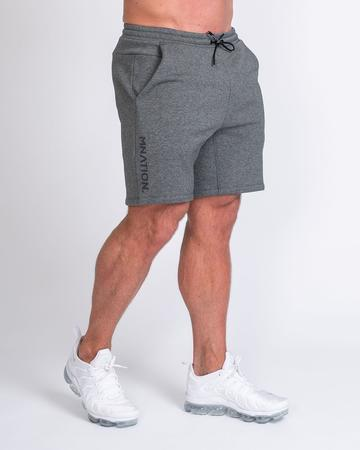 Muscle Nation Casual Fit Shorts - Charcoal