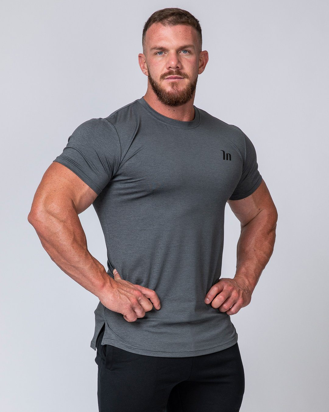 Muscle Nation ClimaFlex T-Shirt - Charcoal Marl