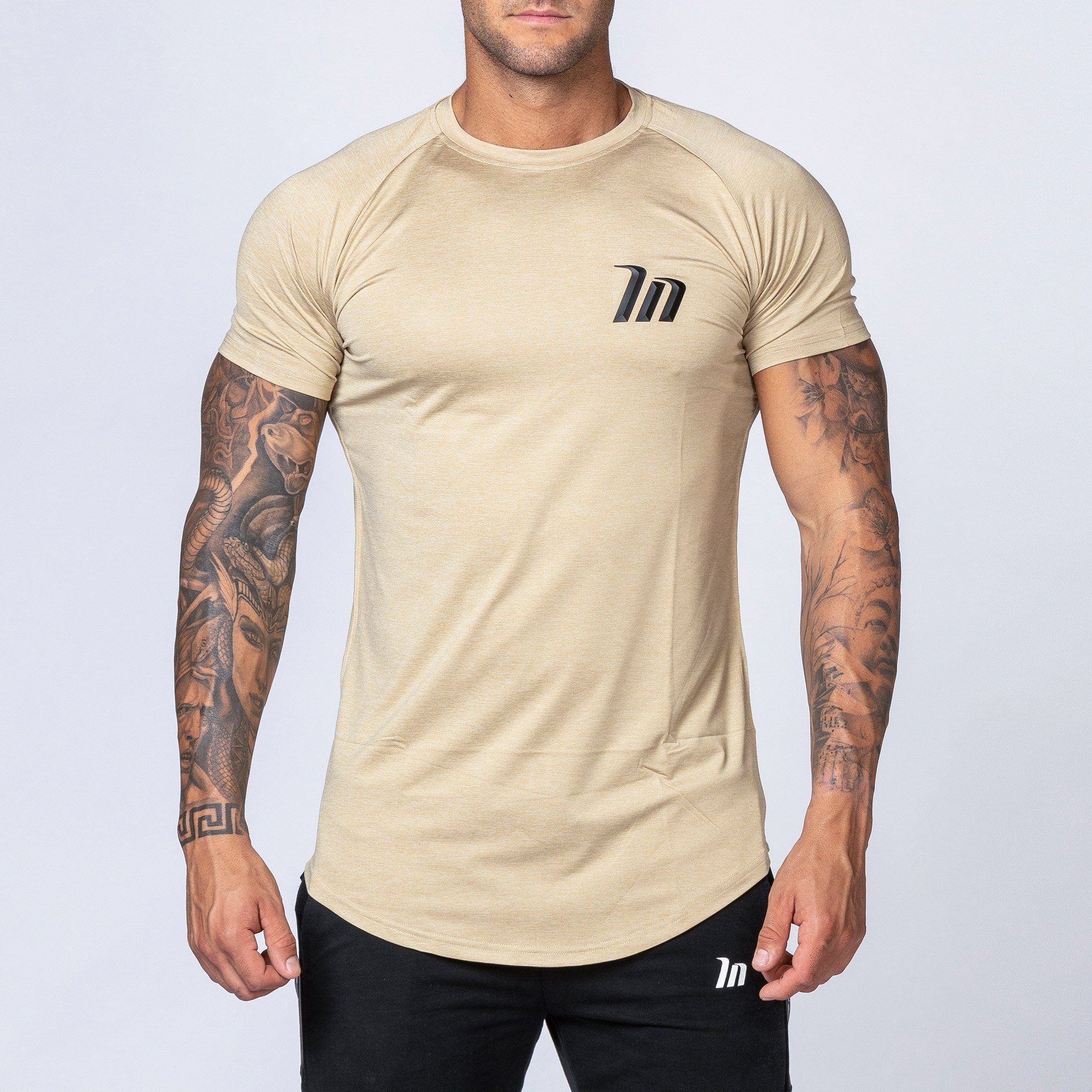 Muscle Nation ClimaFlex T-Shirt - Heather Beige