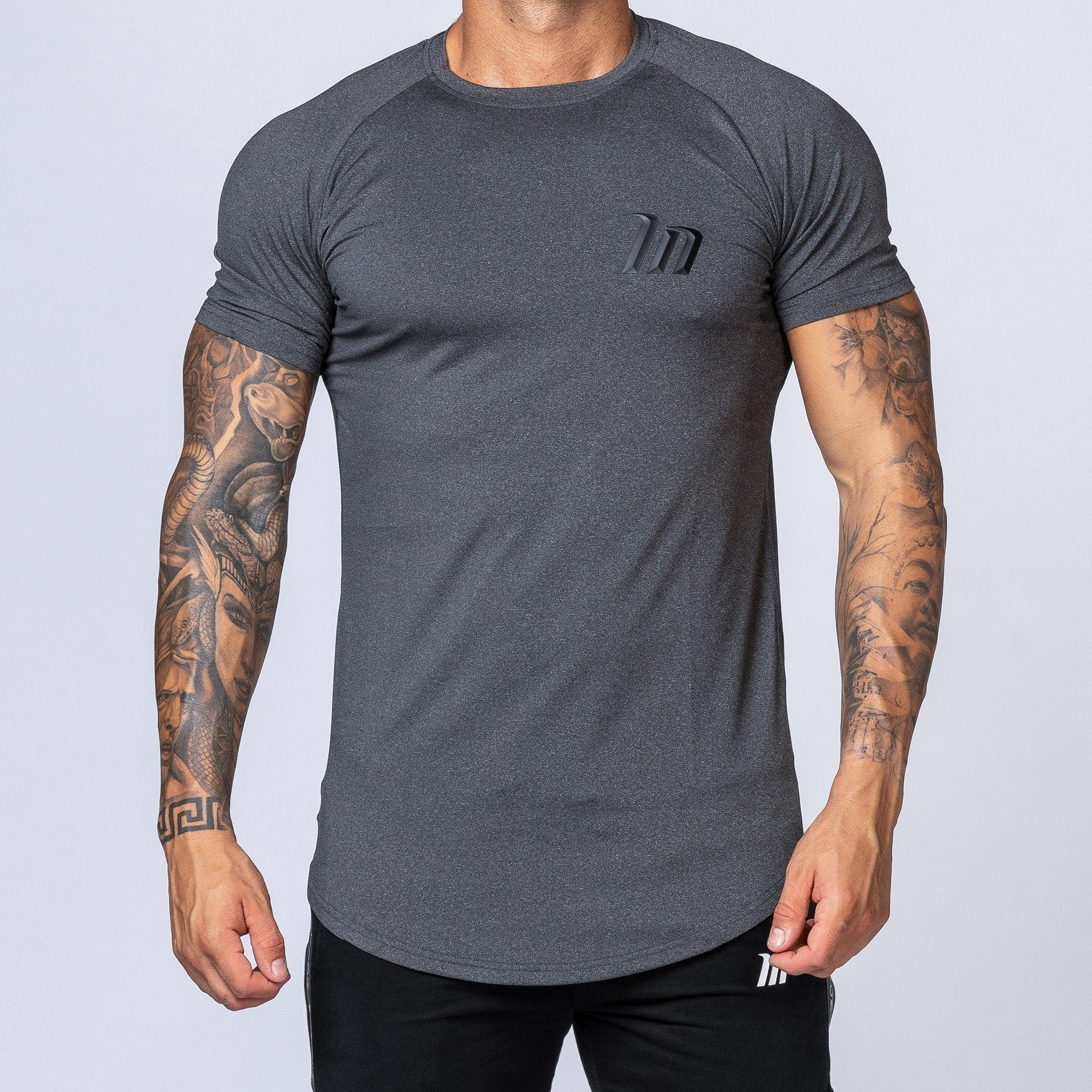Muscle Nation ClimaFlex T-Shirt - Heather Charcoal Grey