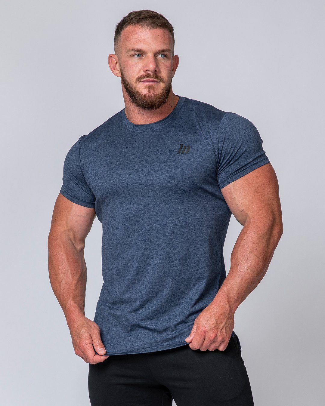 Muscle Nation ClimaFlex T-Shirt - Navy Marl
