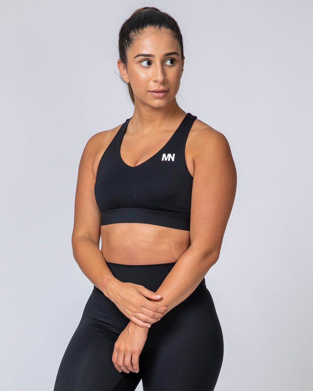 Muscle Nation Comfort Bra - Black and White