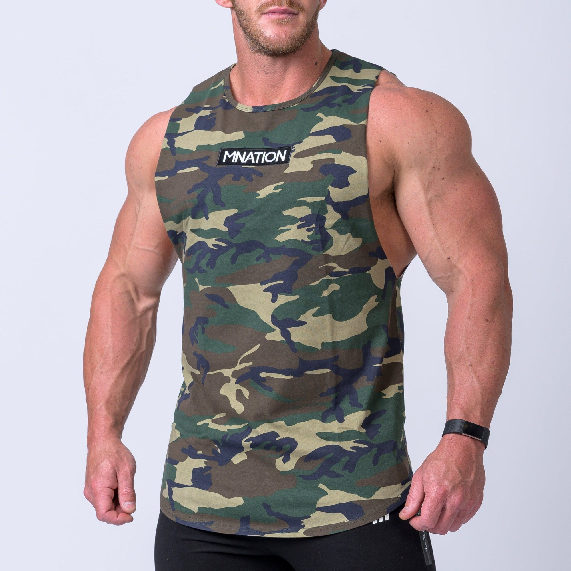 Muscle Nation Embroidery Tank - Camo
