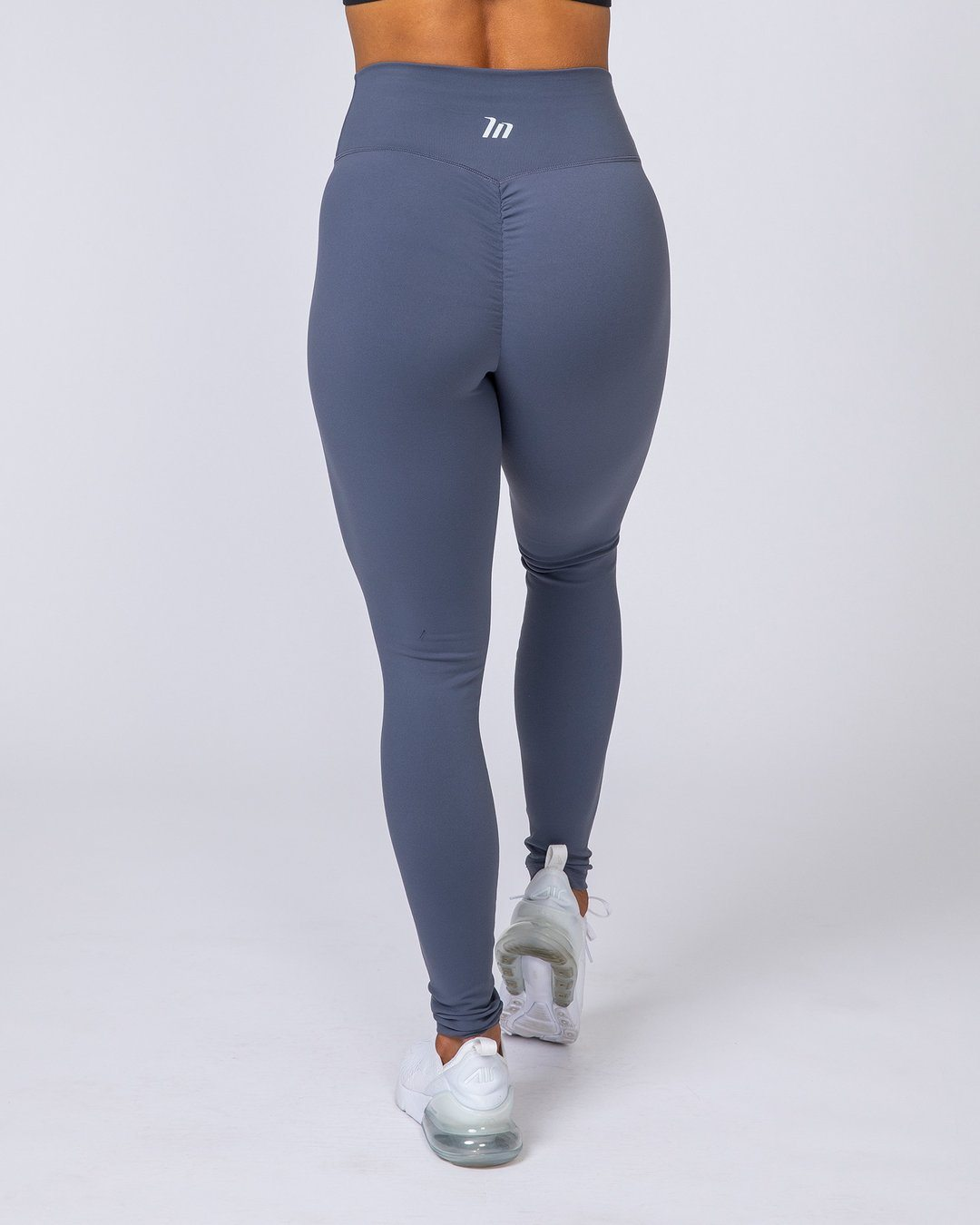 Muscle Nation Full Length Scrunch Leggings - Titanium