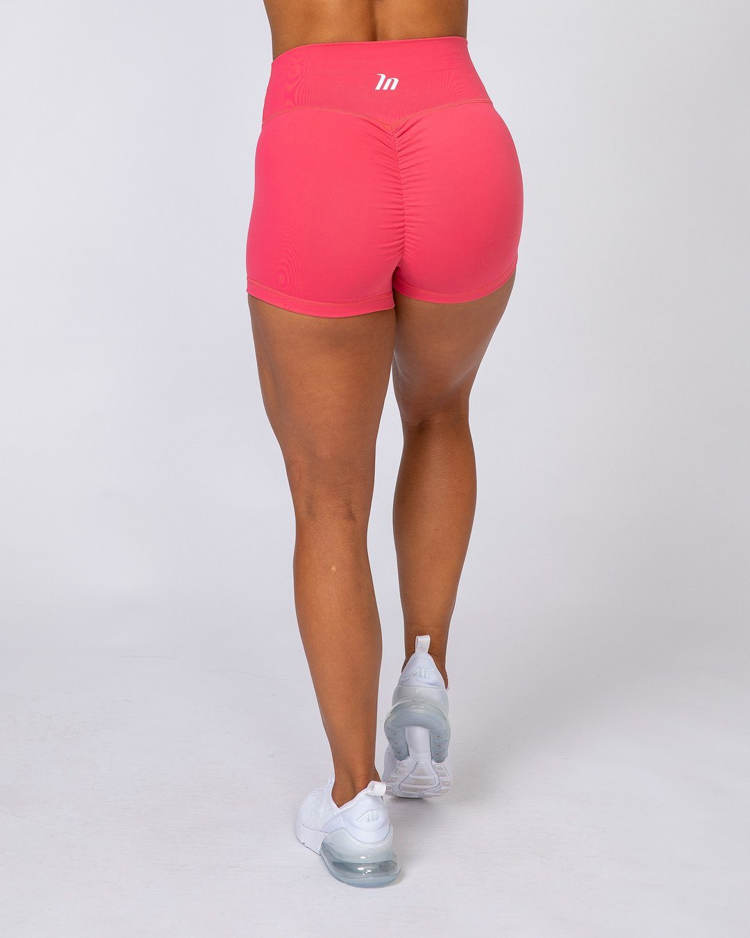 Muscle Nation High Waist Scrunch Shorts - Watermelon