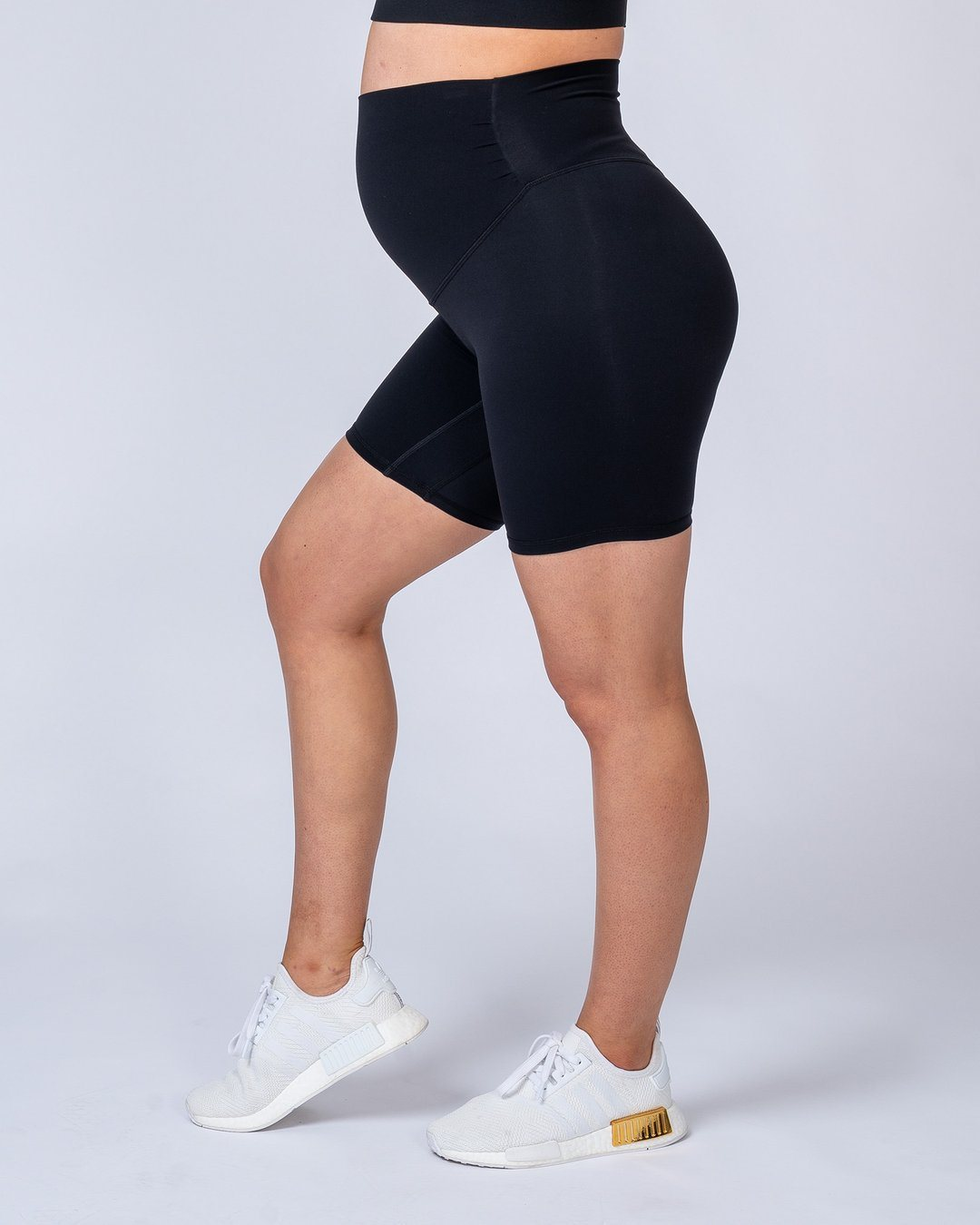 Muscle Nation Maternity Bike Shorts - Black