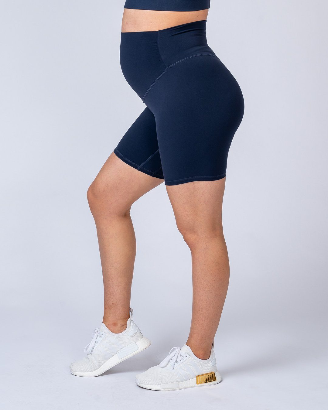 Muscle Nation Maternity Bike Shorts - Navy