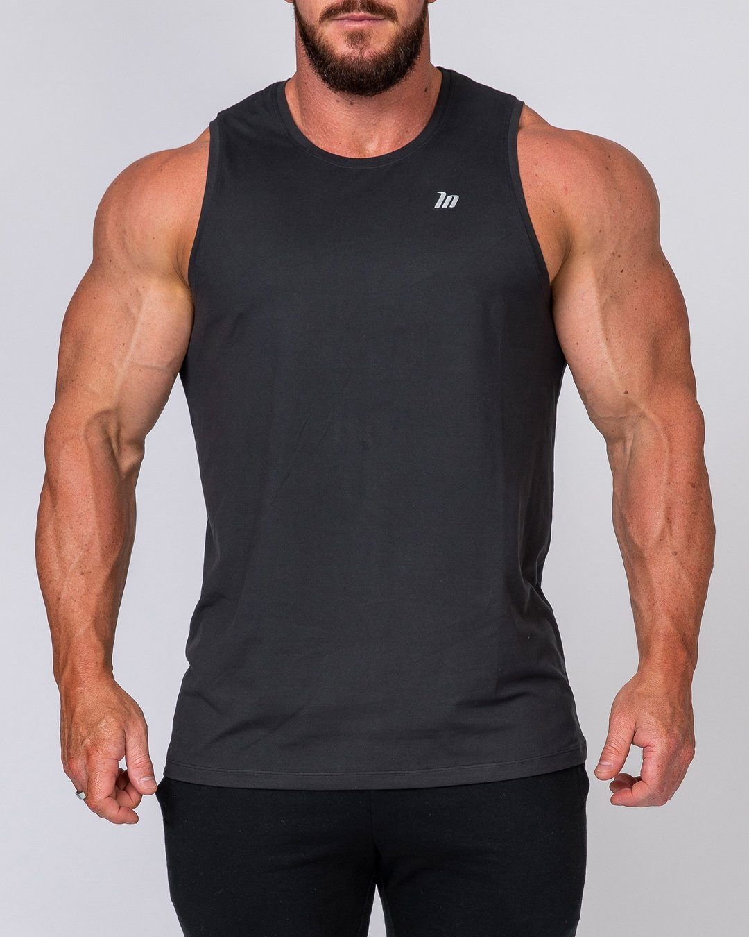 Muscle Nation Mens Basic Tank - Black