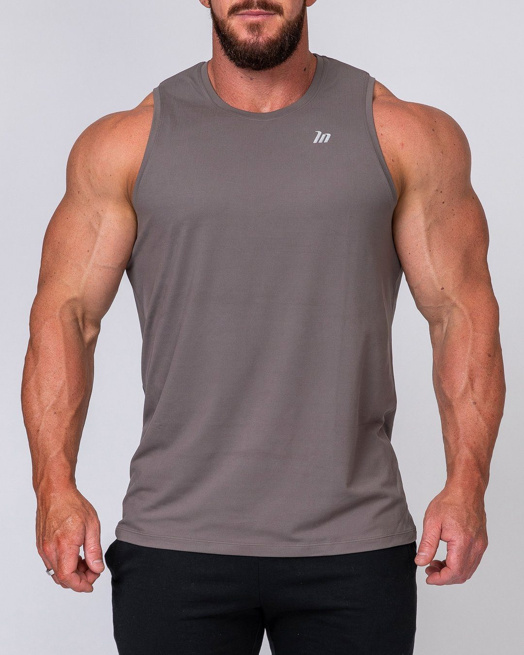 Muscle Nation Mens Basic Tank - Charcoal
