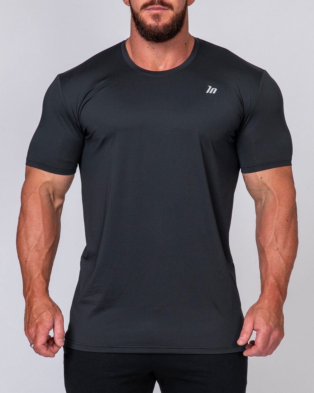 Muscle Nation Mens Running Tee - Black