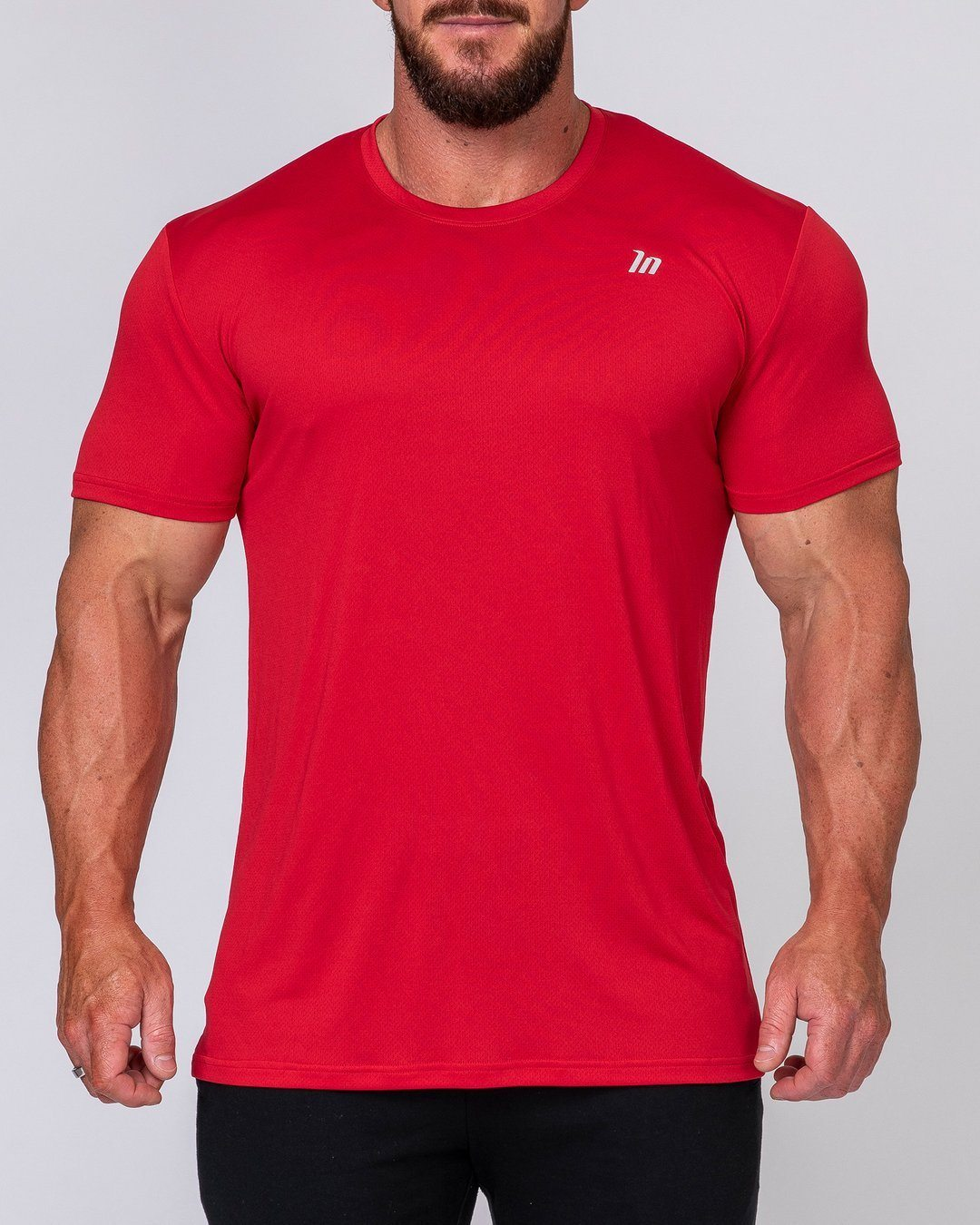 Muscle Nation Mens Running Tee - Deep Red