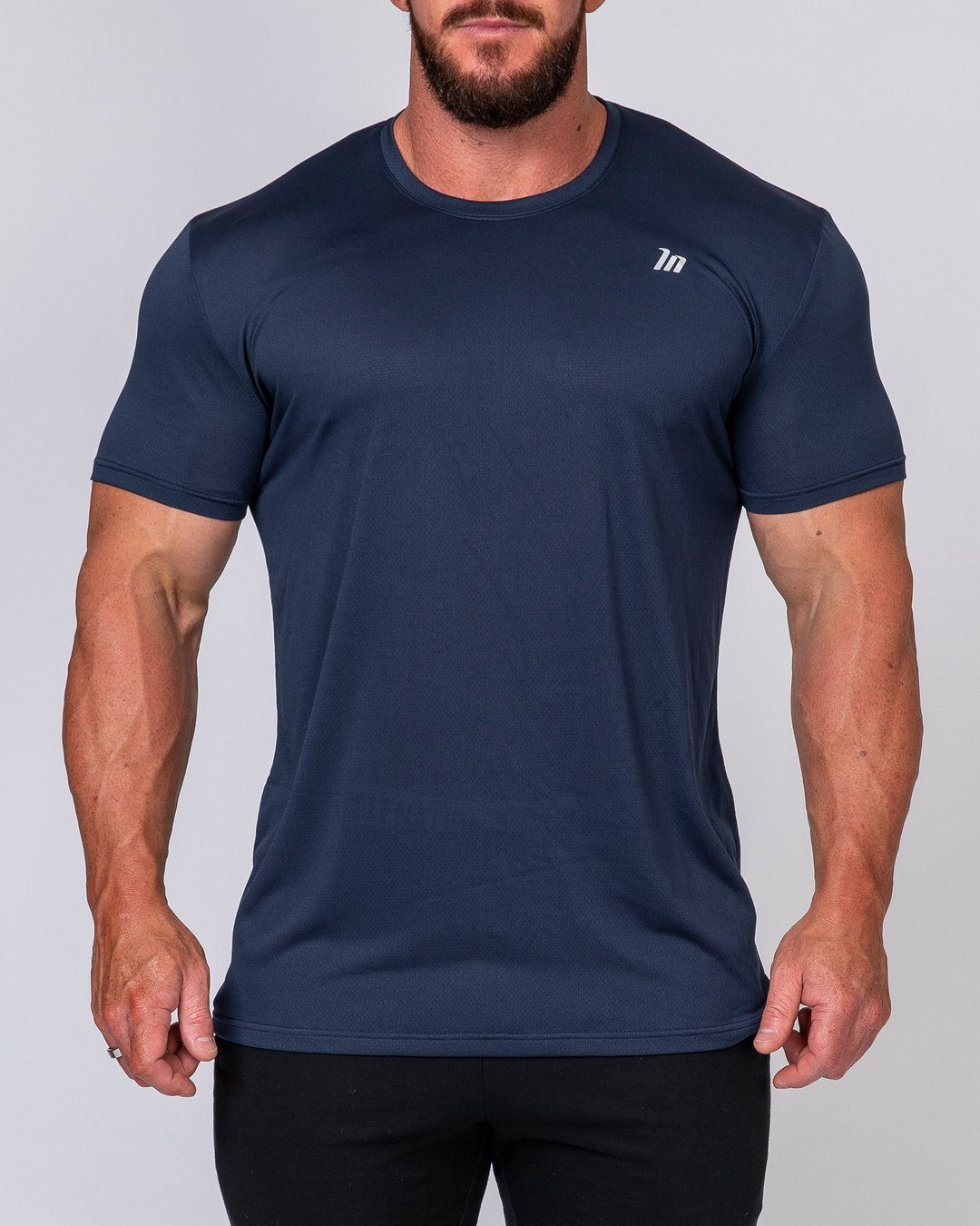 Muscle Nation Mens Running Tee - Navy