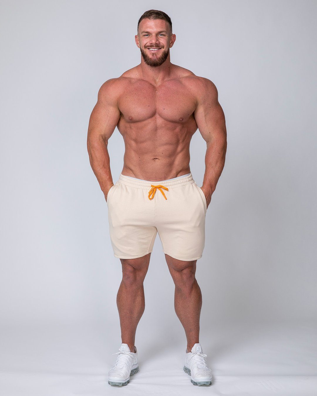 Muscle Nation Mens Surf Shorts - Sand