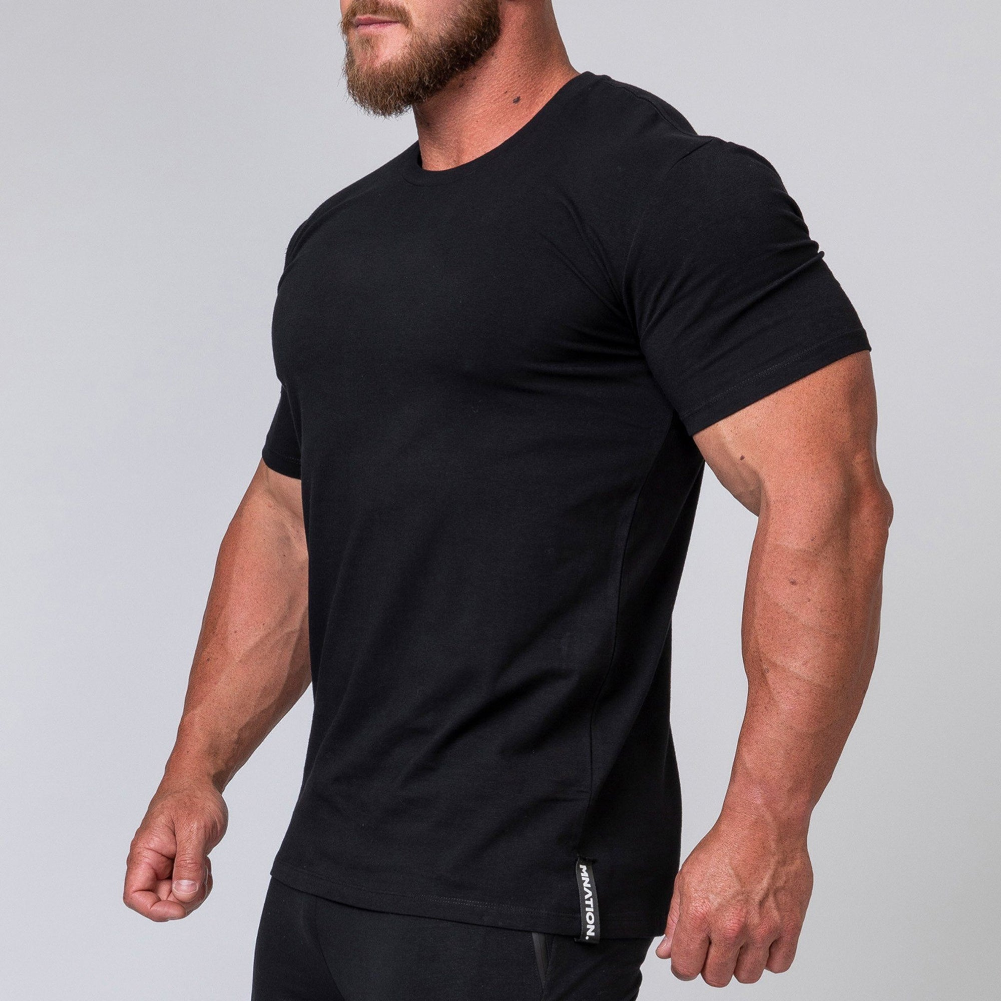 Muscle Nation Minimal Tee - Black