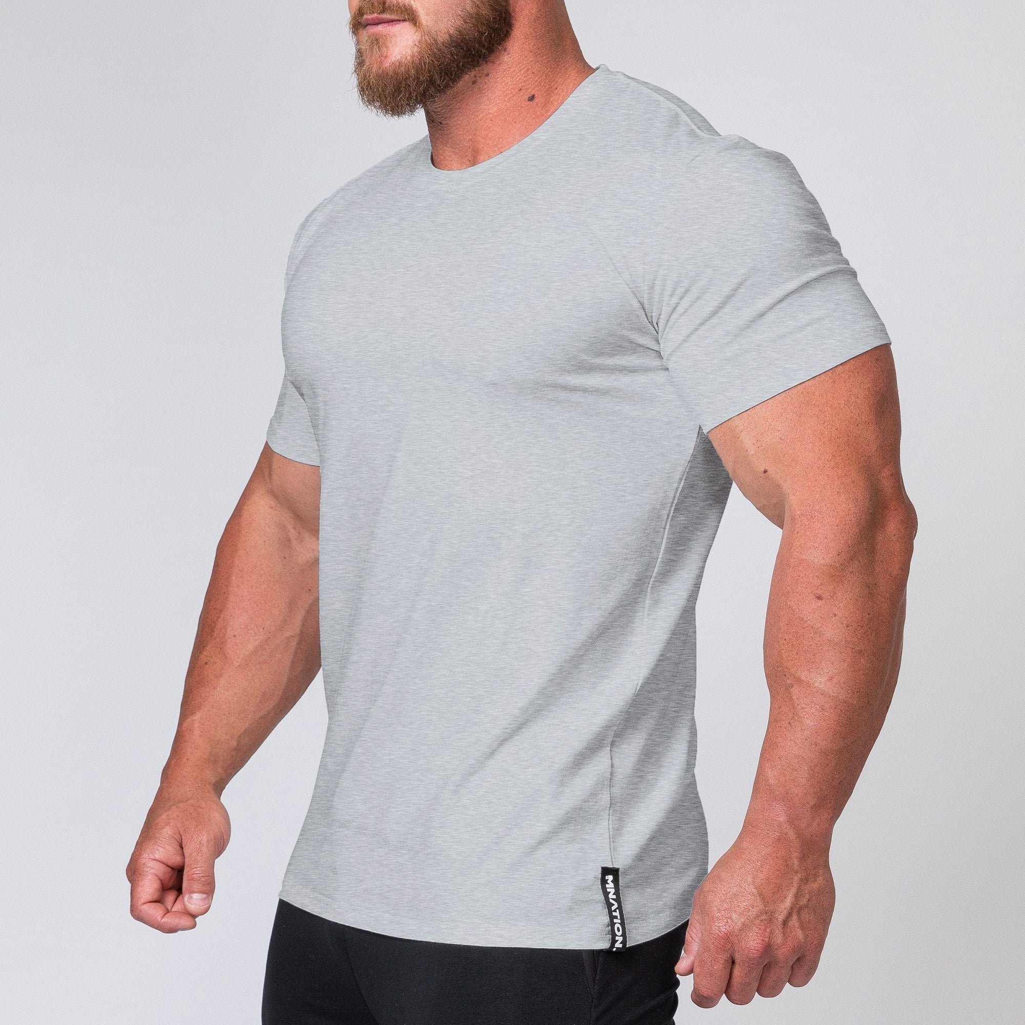 Muscle Nation Minimal Tee - Grey