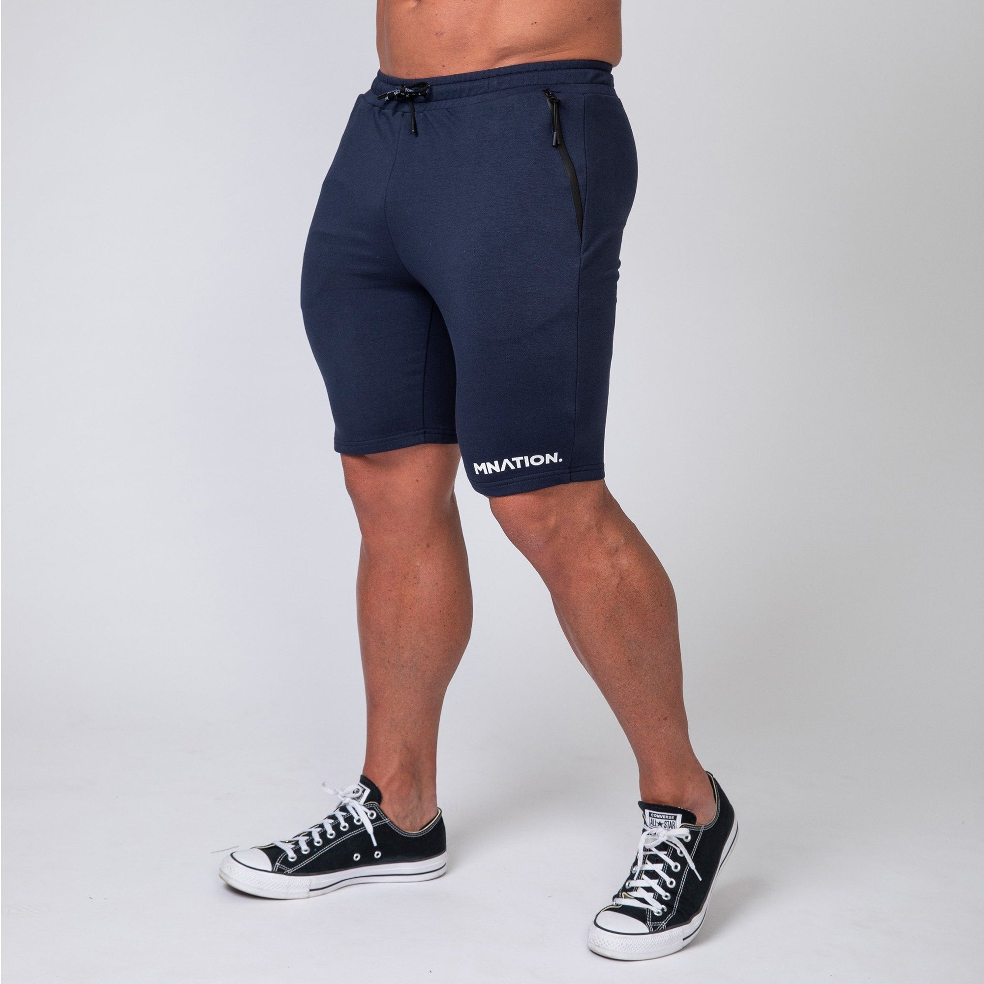 Muscle Nation MNation Tapered Fit Shorts - Navy