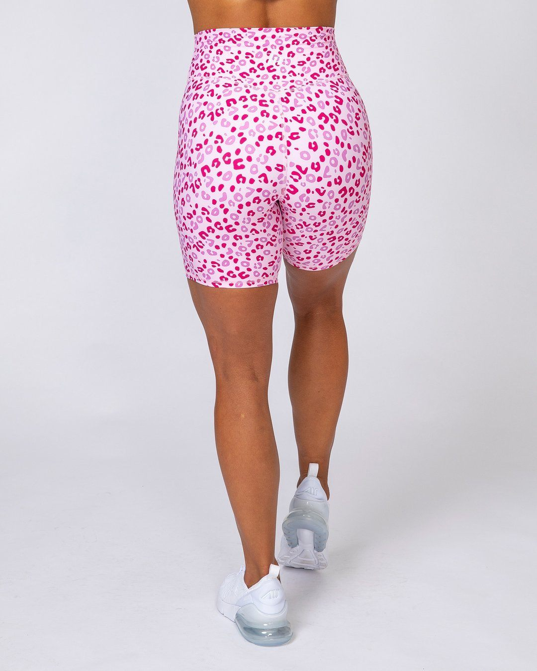 Muscle Nation Motion Bike Shorts - Pink Leopard