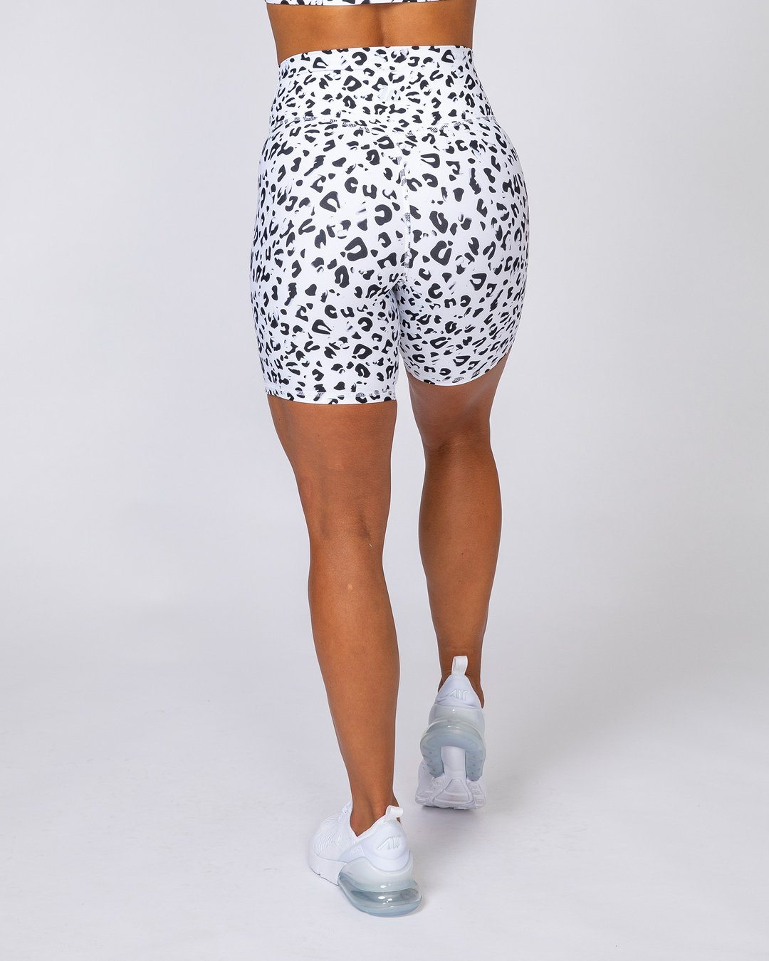 Muscle Nation Motion Bike Shorts - Snow Leopard