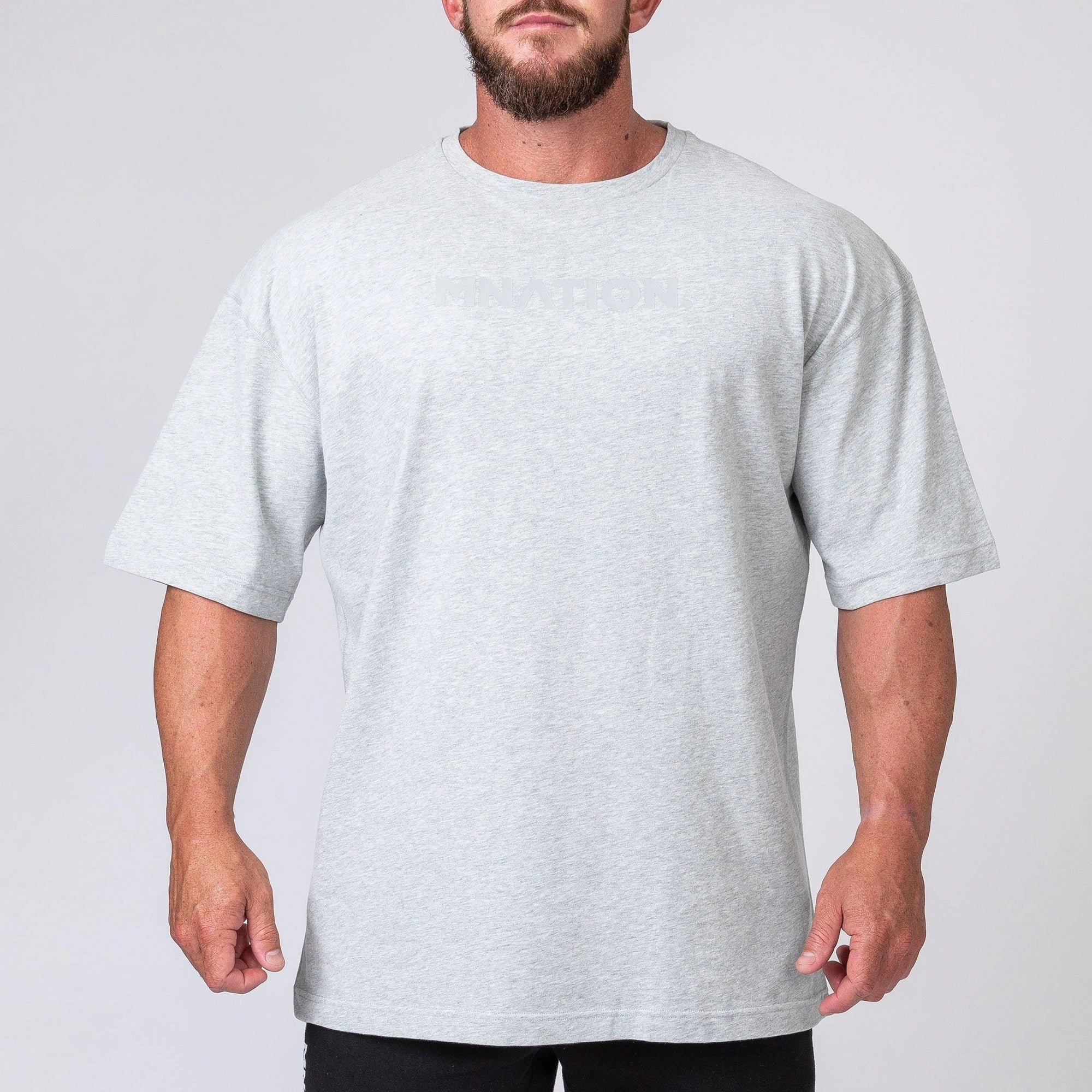 Muscle Nation Oversized Tee - Grey