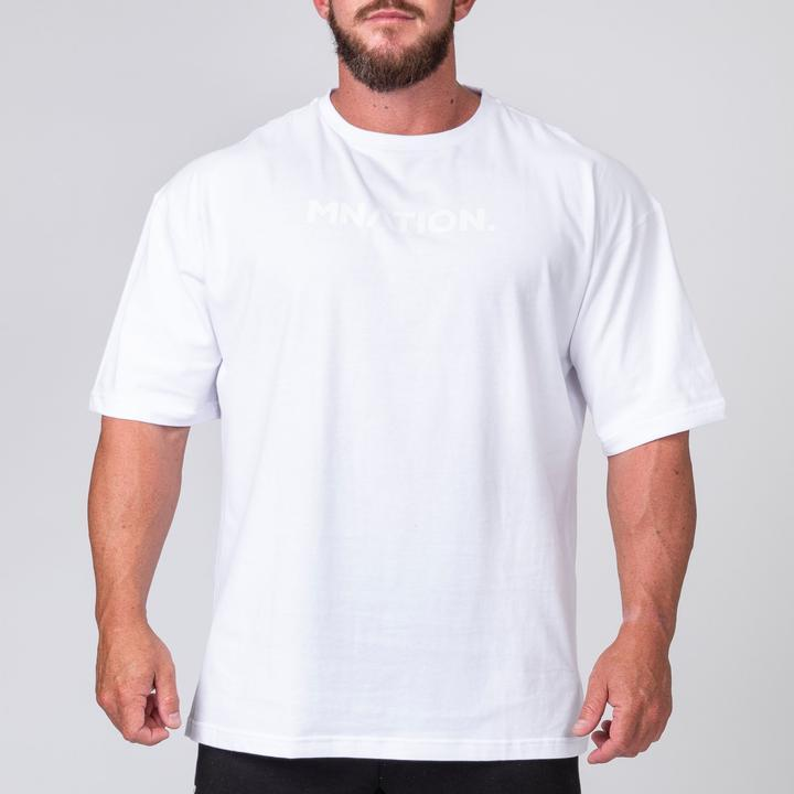 Muscle Nation Oversized Tee - White