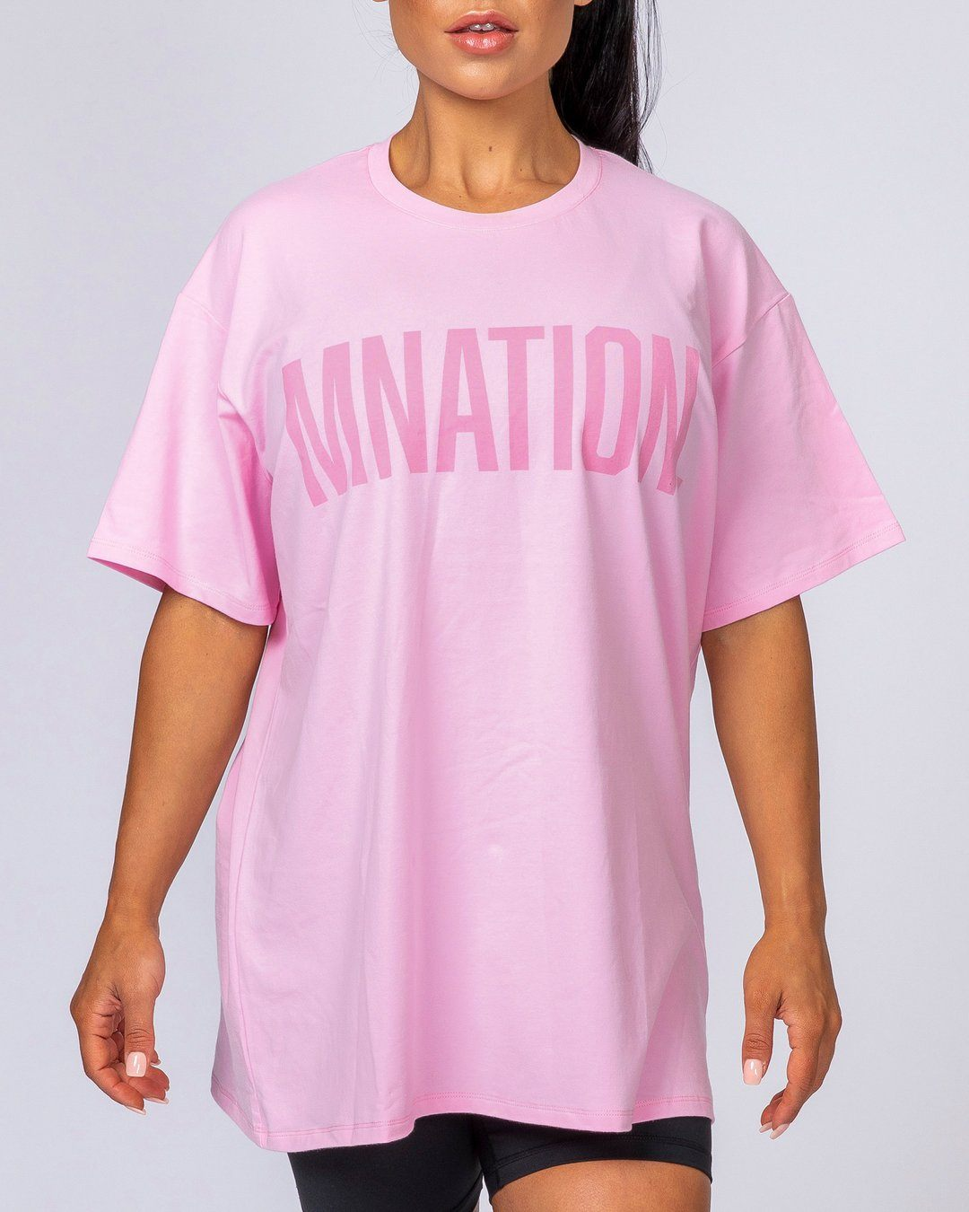 Muscle Nation Oversized Tonal Tee - Pink