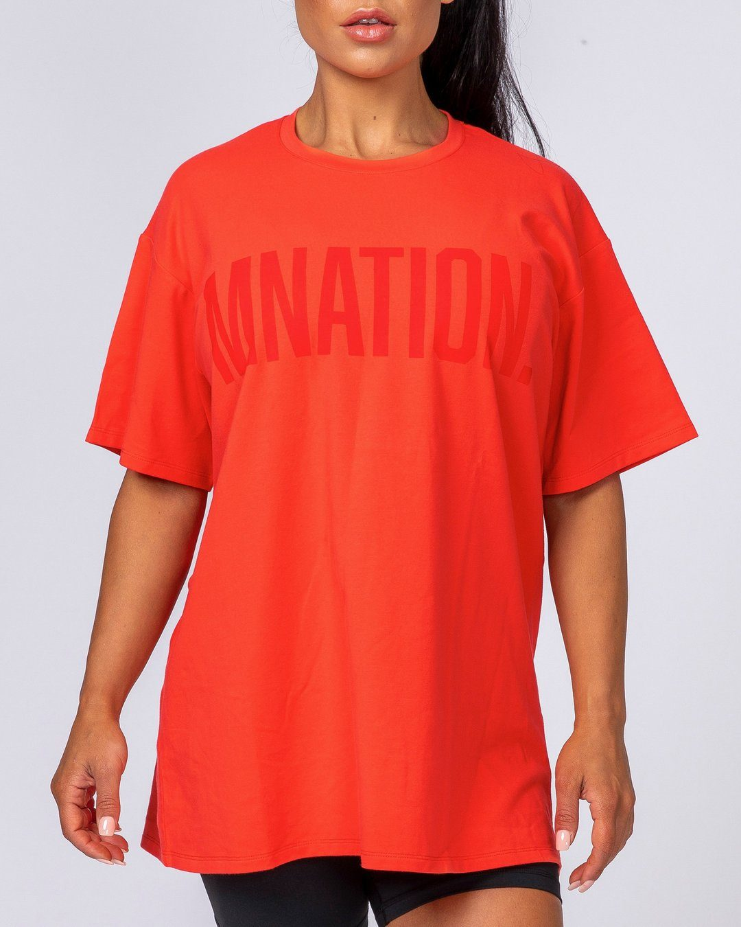 Muscle Nation Oversized Tonal Tee - Red