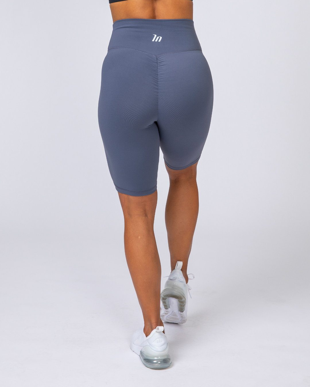 Muscle Nation Referee Length High Waist Scrunch - Titanium