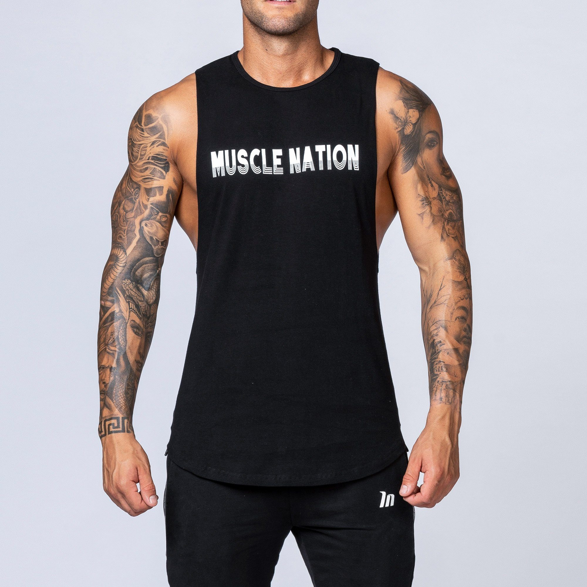 Muscle Nation Retro Tank - Black