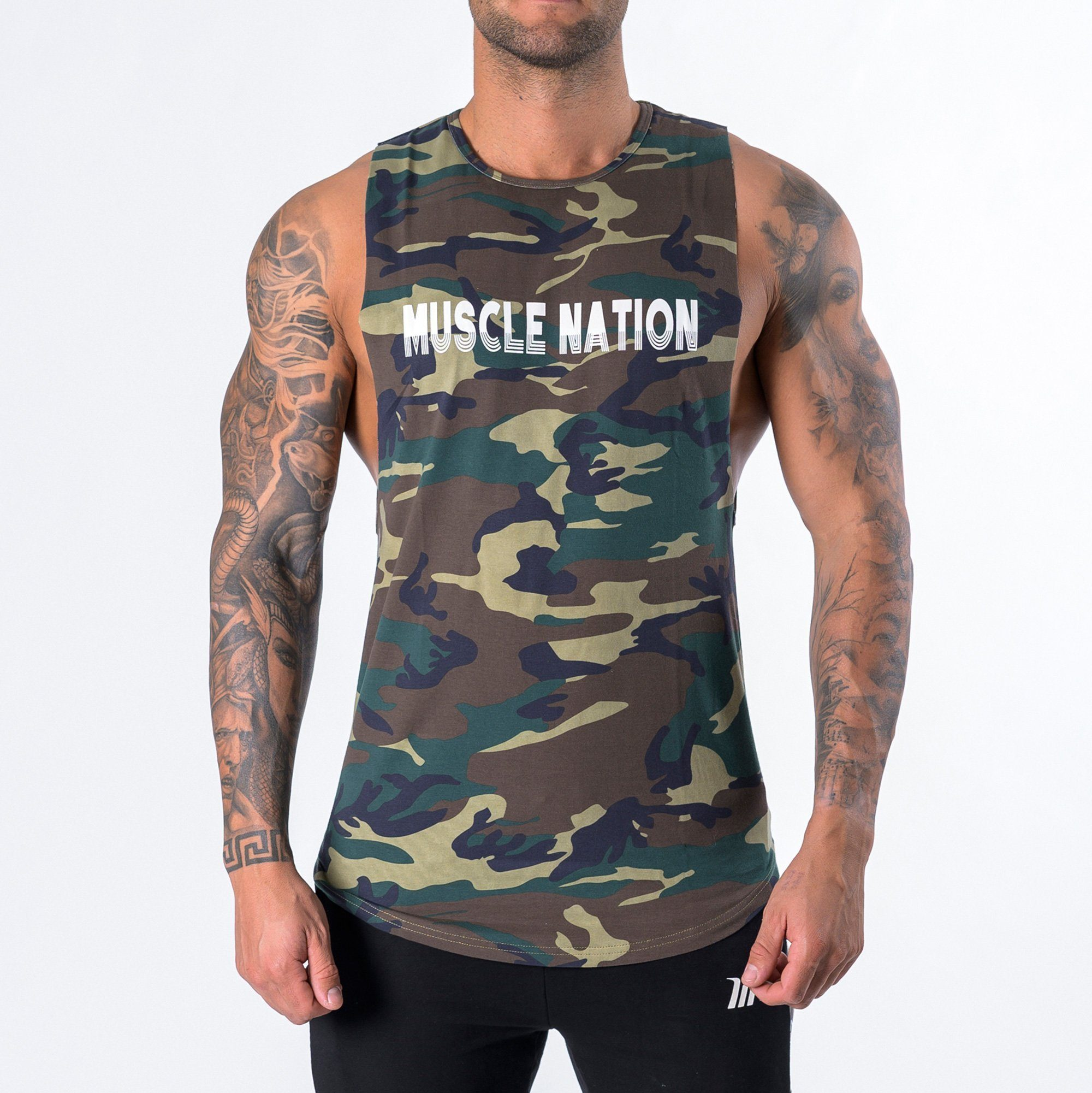 Muscle Nation Retro Tank - Camo