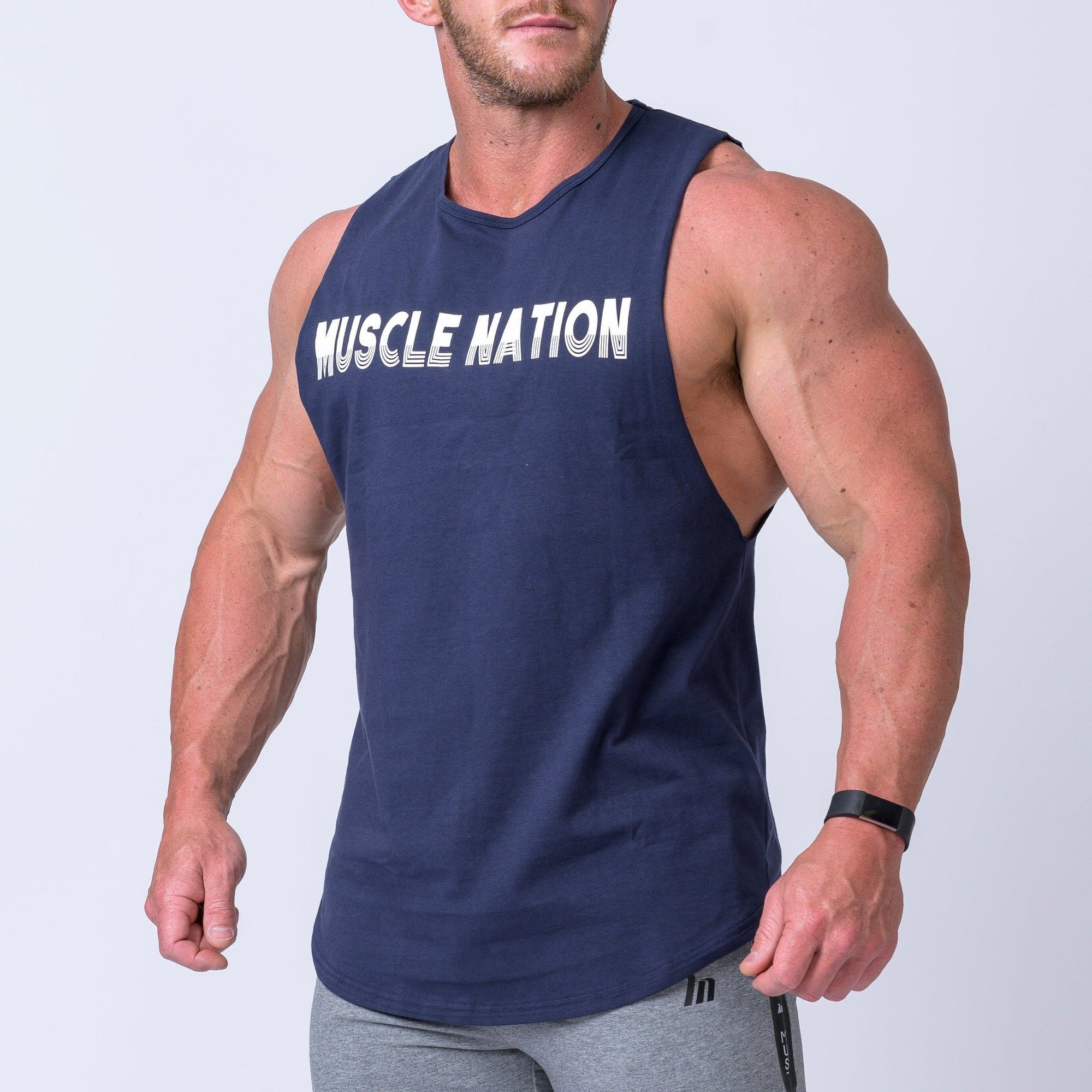 Muscle Nation Retro Tank - Navy